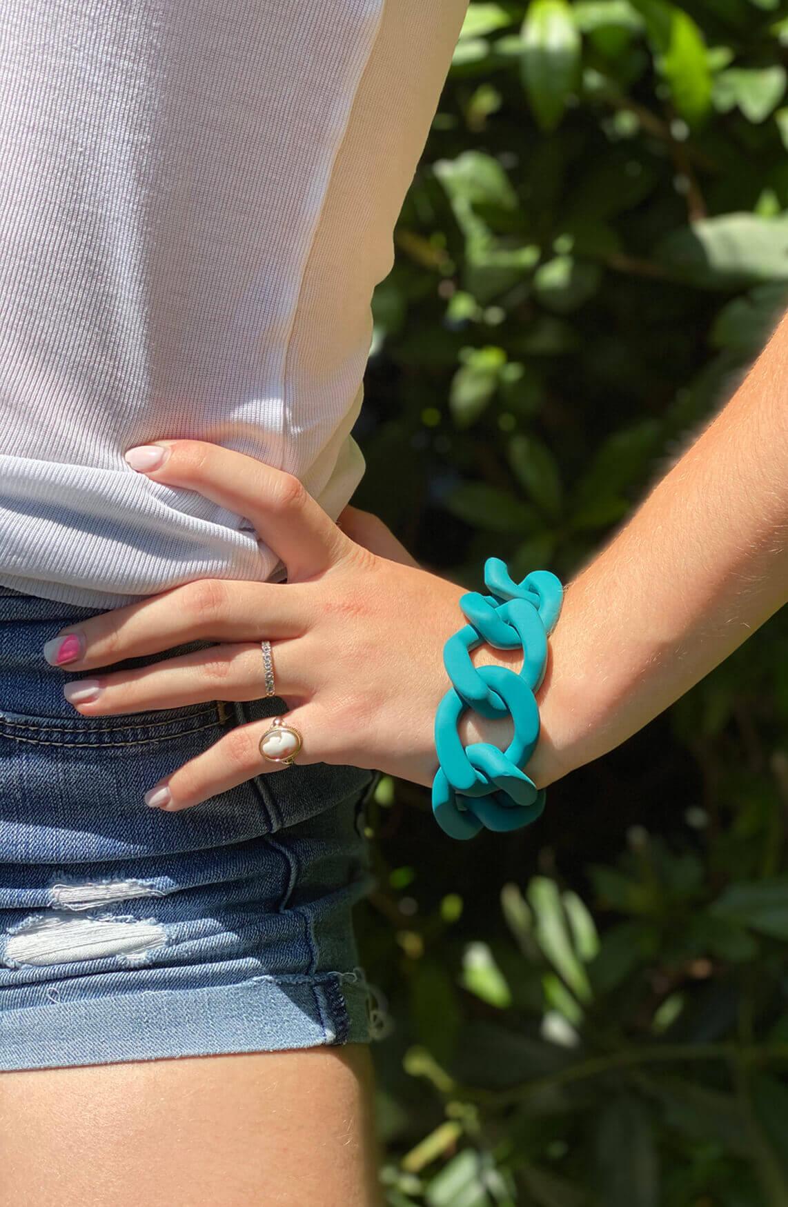 Lins. Amsterdam Dames Lune armband Bruin