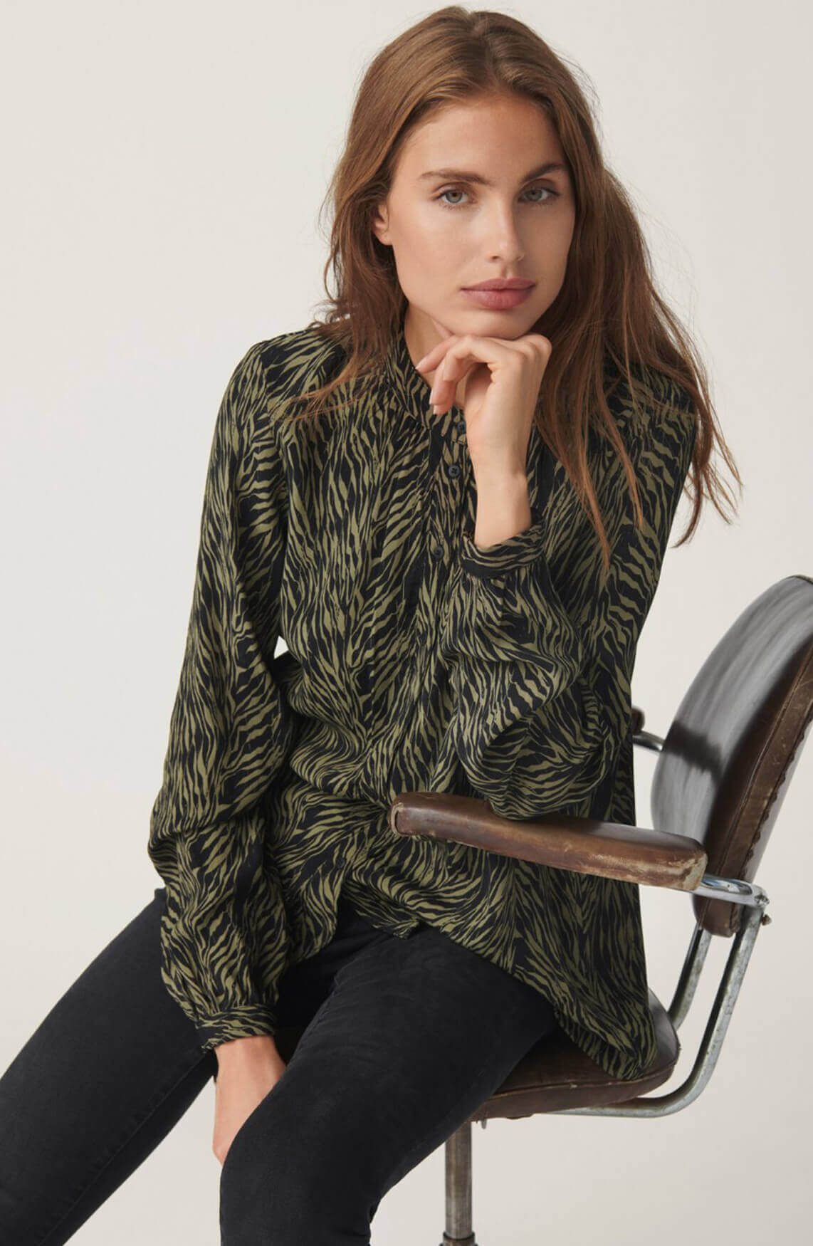 Moss Copenhagen Dames Salie blouse groen