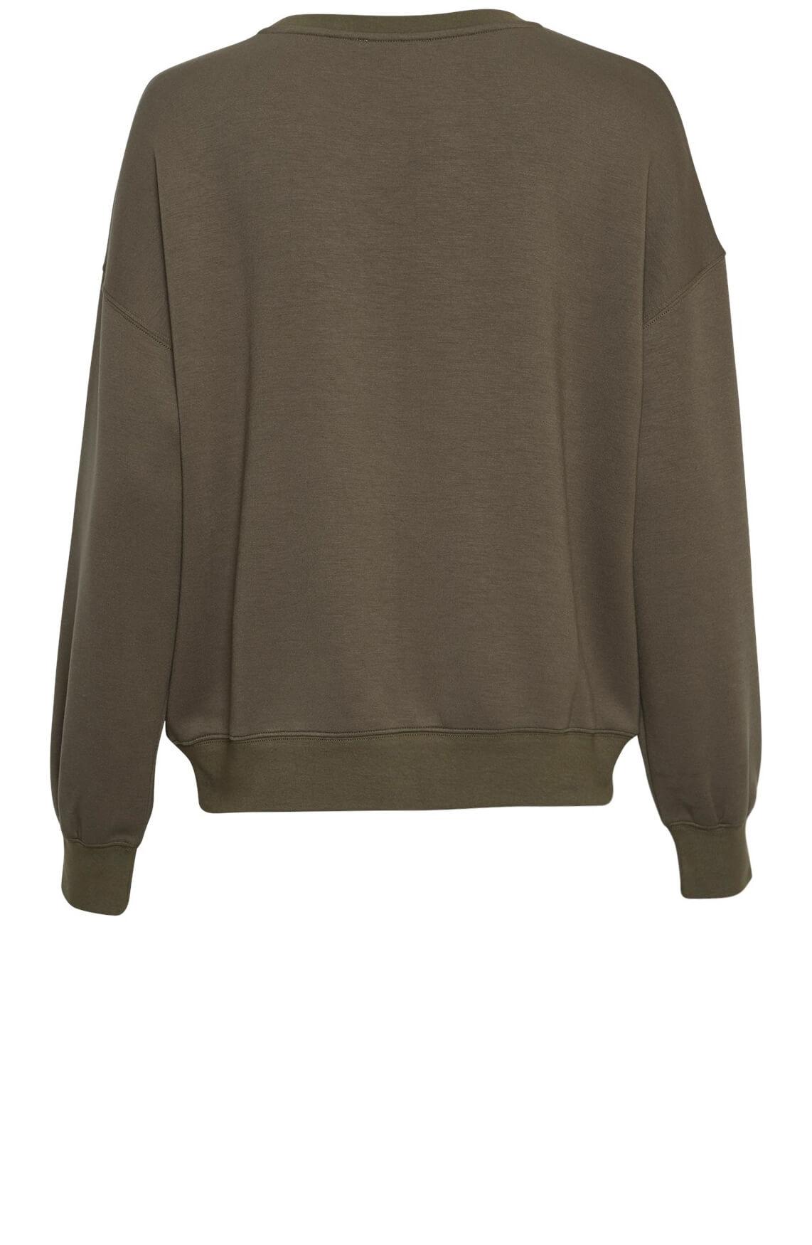 Moss Copenhagen Dames Ima sweater groen