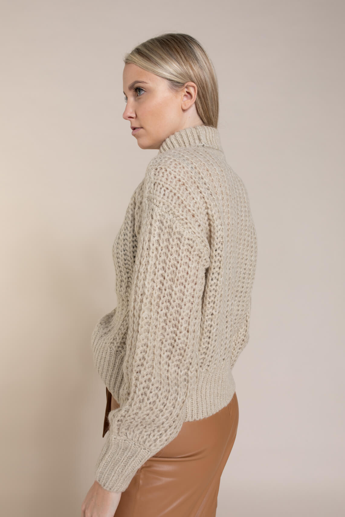 Moss Copenhagen Dames Heidi pullover Ecru