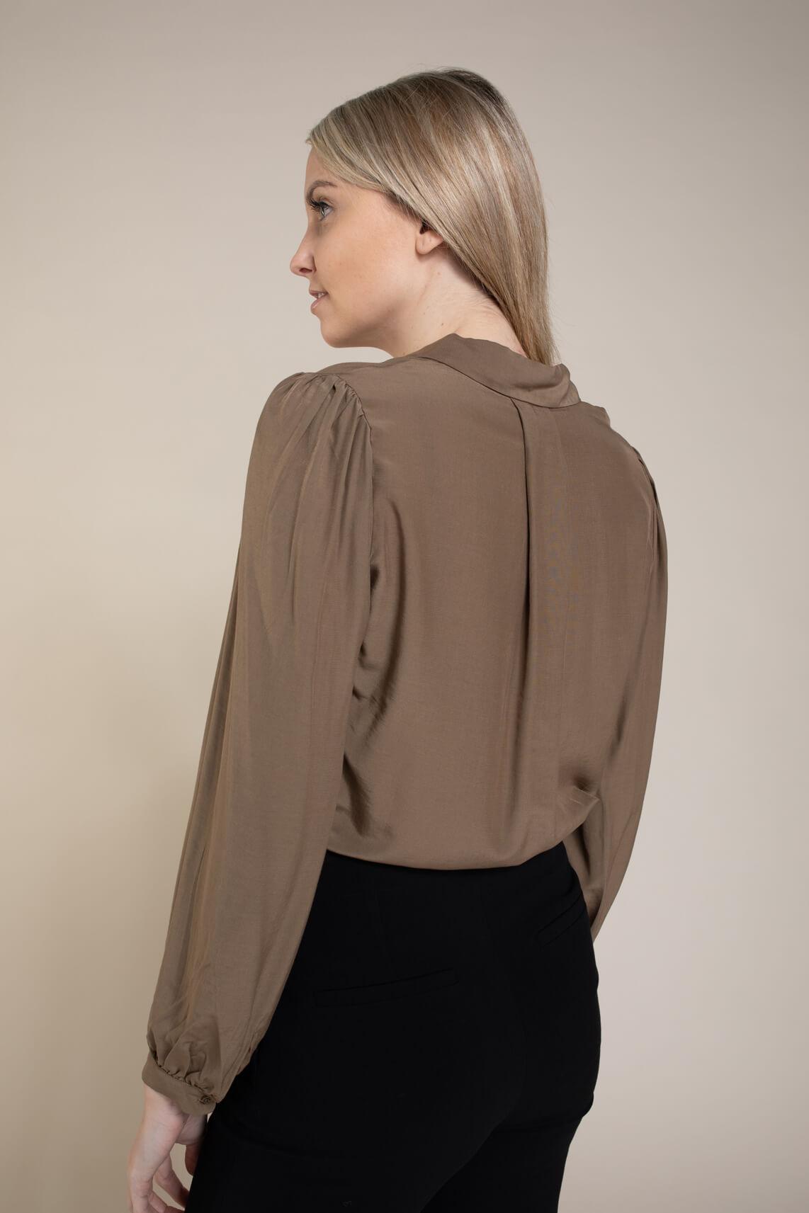 Moss Copenhagen Dames Veda blouse Bruin