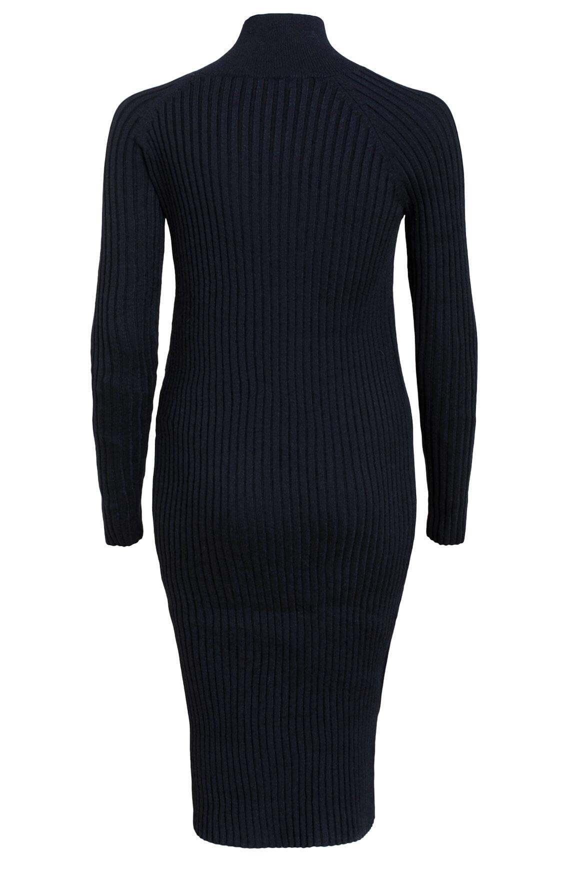 Moss Copenhagen Dames Joye Erica gebreide jurk zwart