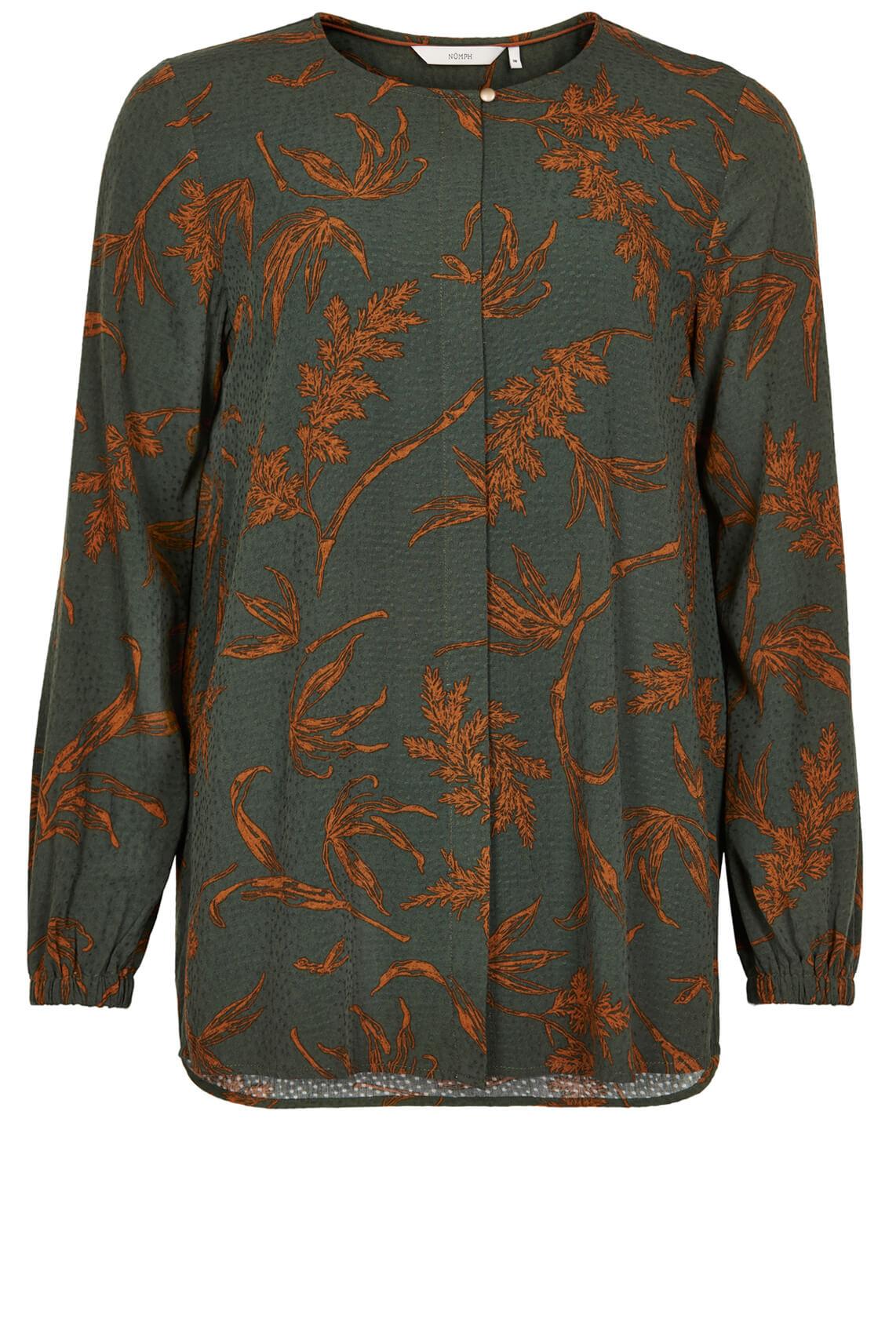 Numph Dames Bloom blouse groen