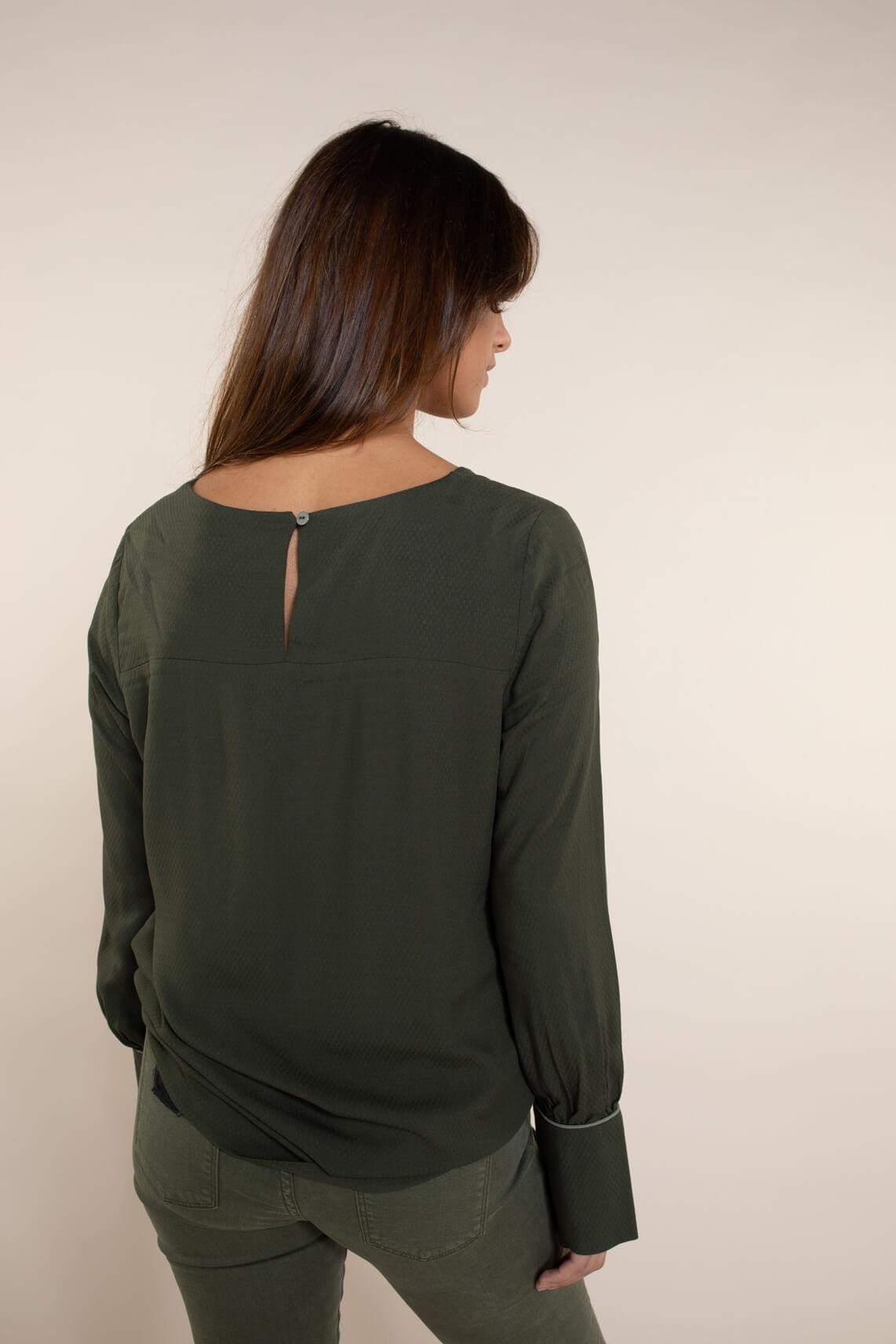 Numph Dames Brylie blouse groen