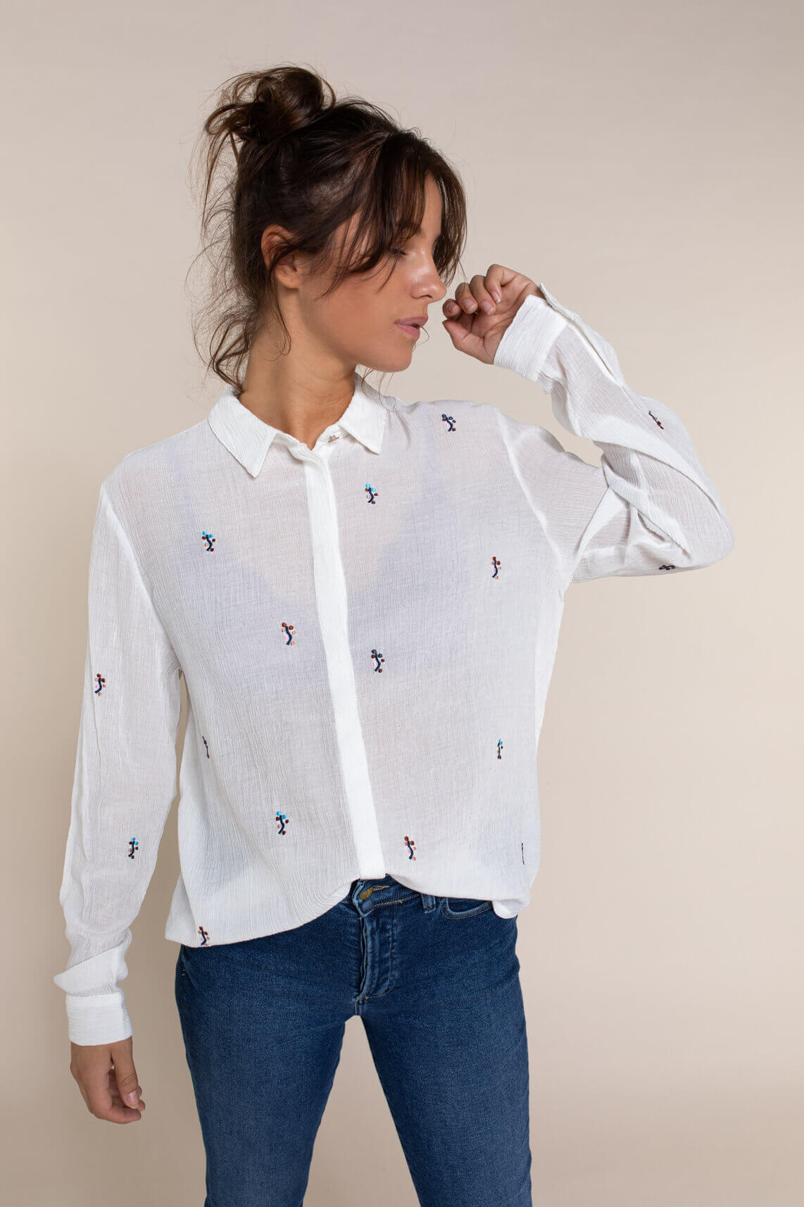 Numph Dames Braylee blouse wit