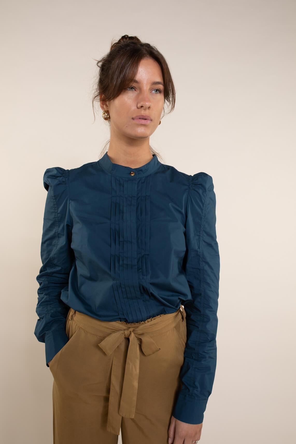 Numph Dames Beatriz blouse Blauw