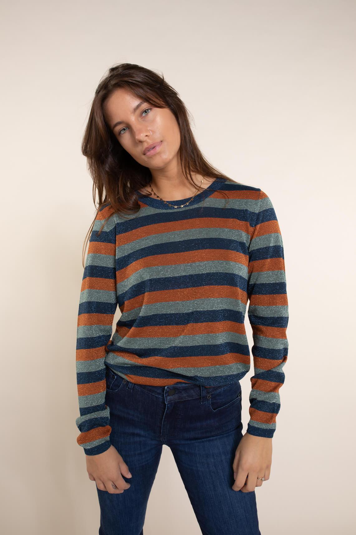 Numph Dames Bree pullover Blauw