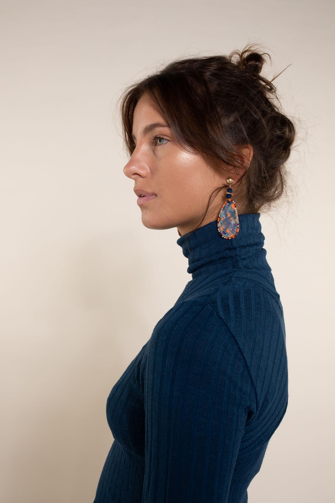 Numph Dames Bessie pullover Blauw