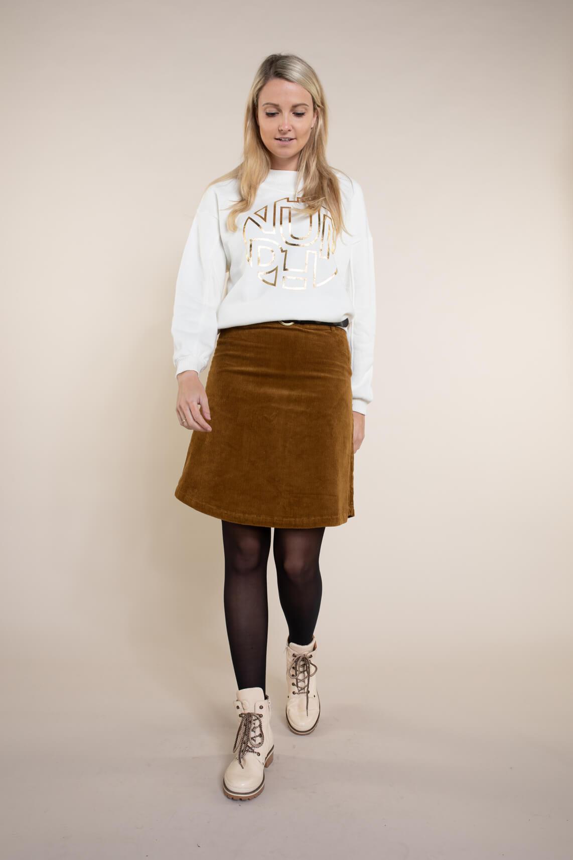 Numph Dames Bobbie sweater wit