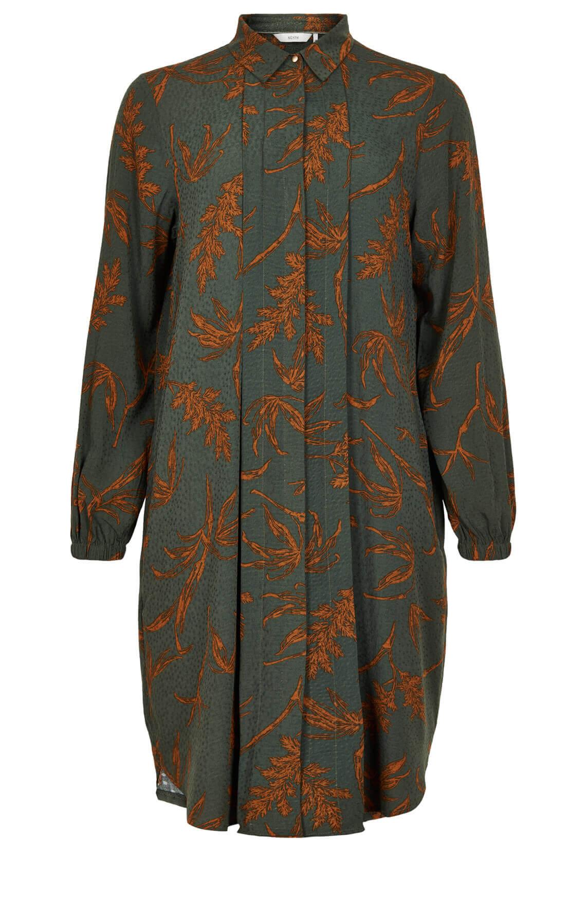 Numph Dames Bloom jurk groen