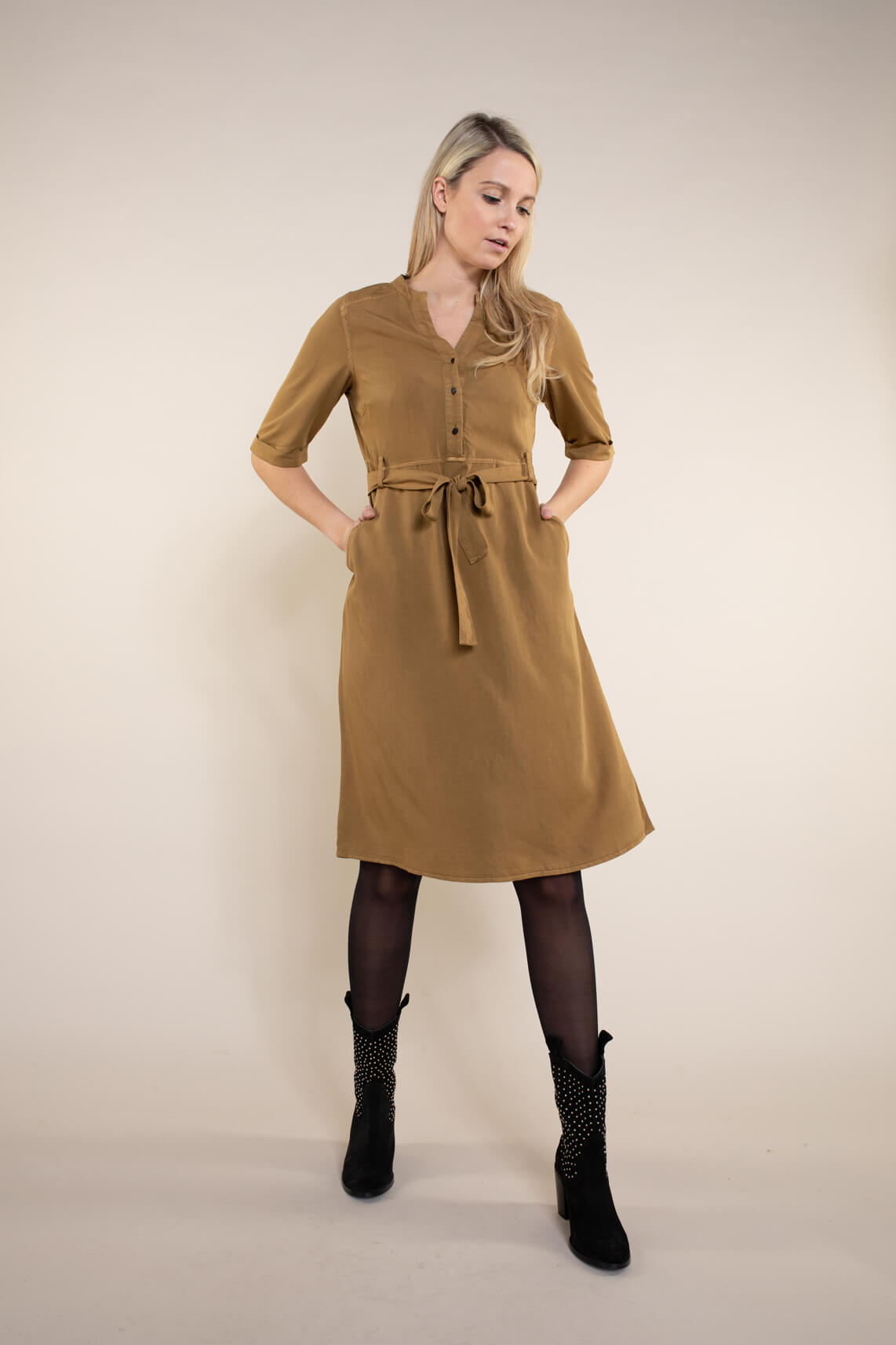 Numph Dames Bethoc jurk Bruin