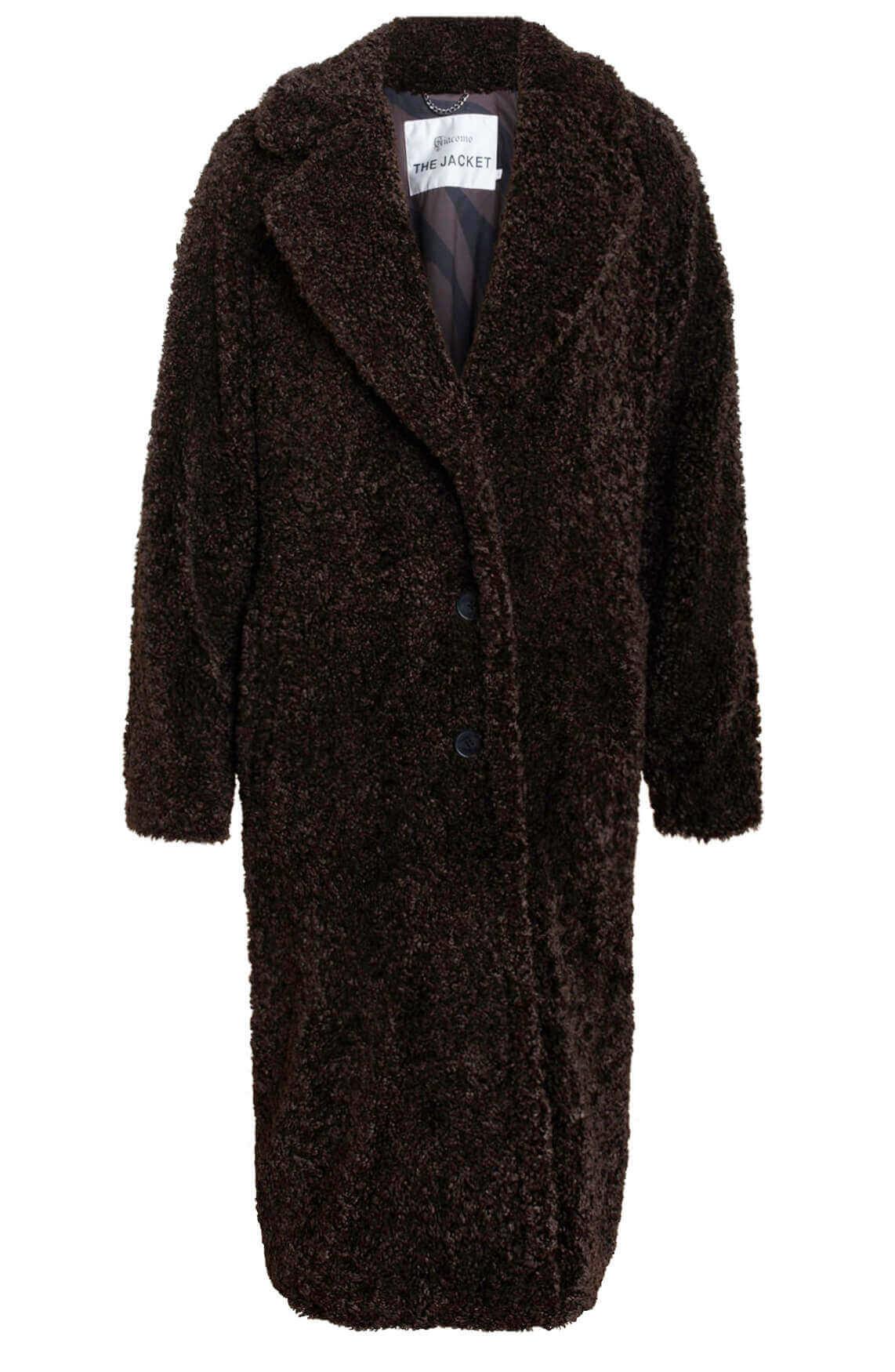 Giacomo Dames Lange teddy mantel Bruin