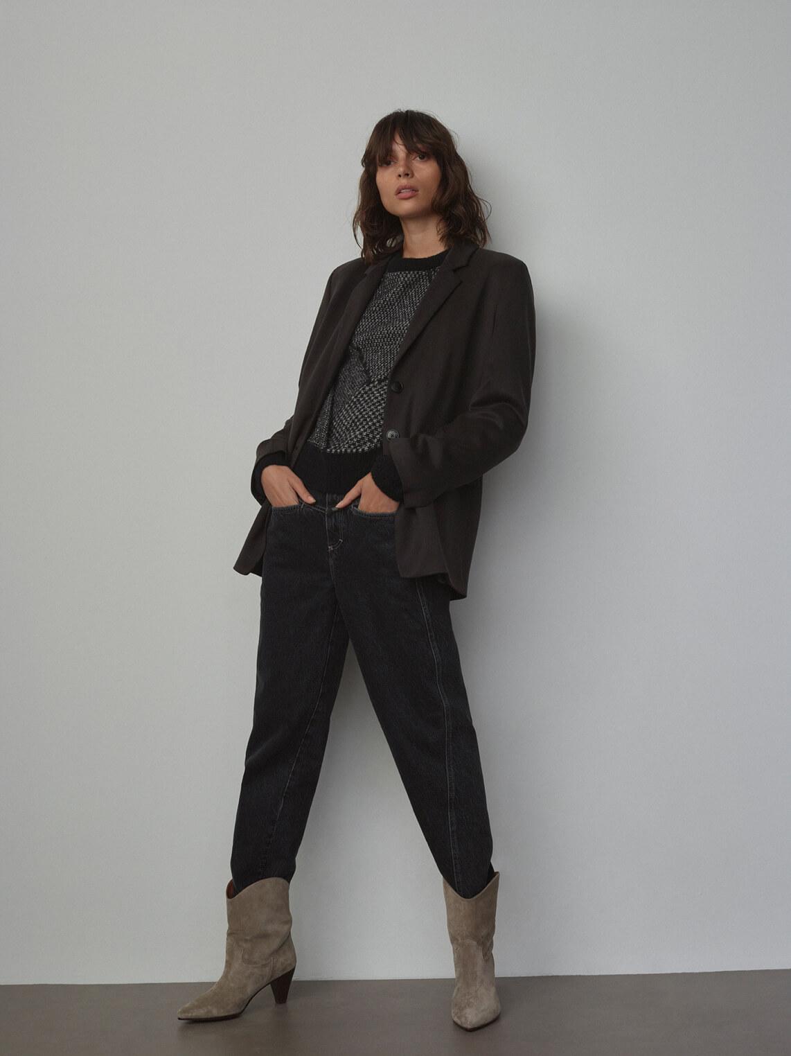 Closed Dames Jeans slim fit mid waist Grijs