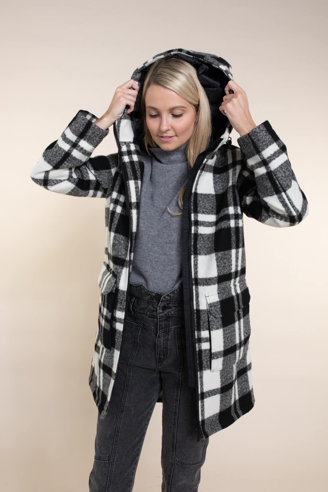 Reset Dames Veronica jas met capuchon zwart