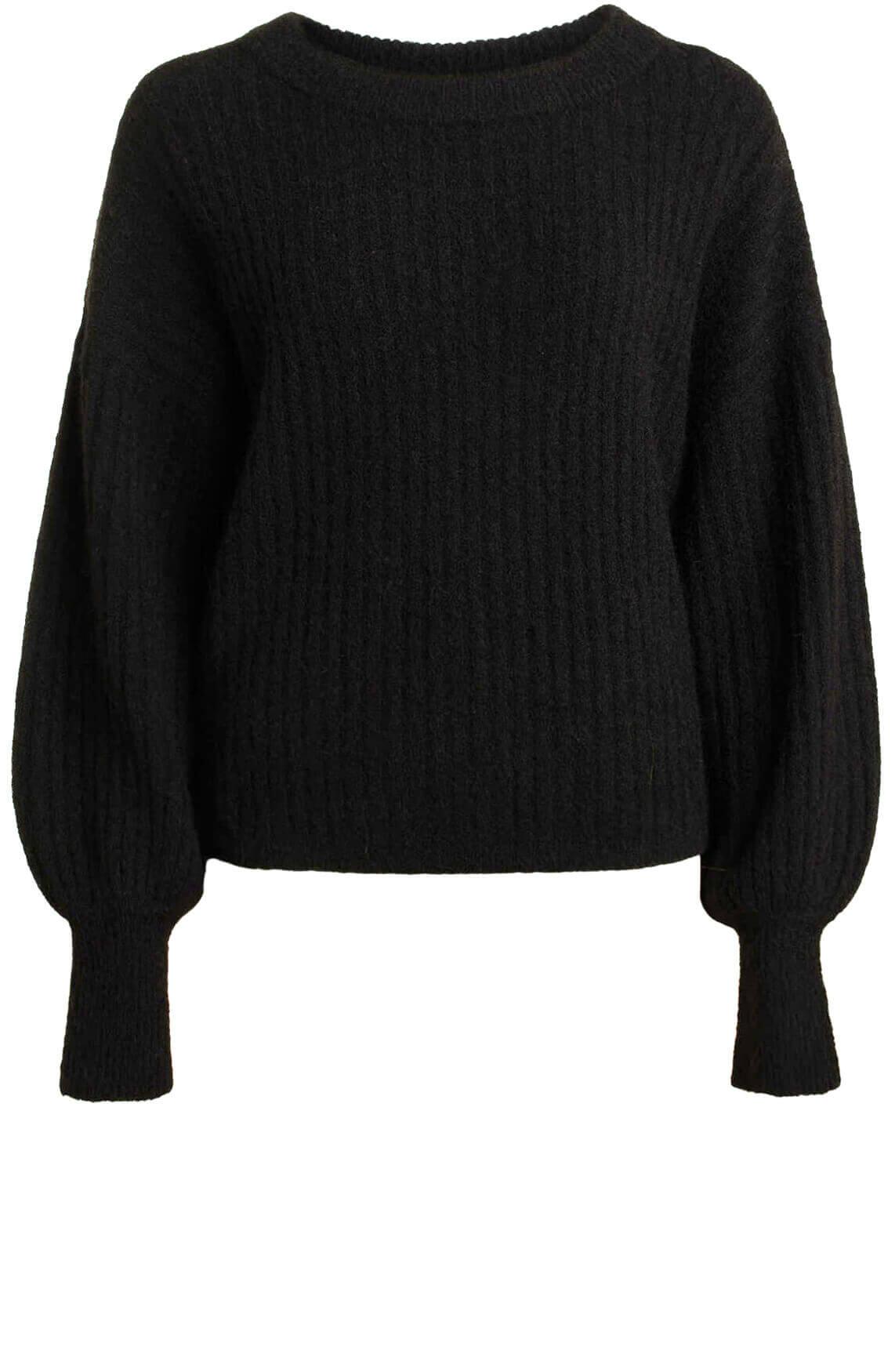 Anna Dames Gebreide trui zwart