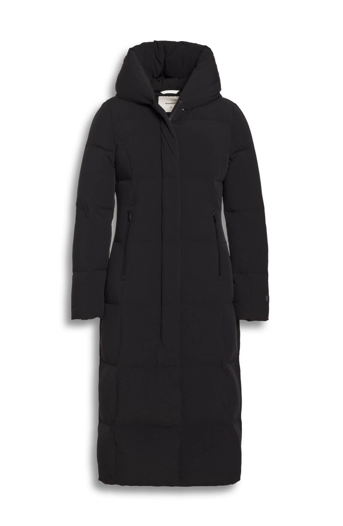 Beaumont Dames bi-stretch long coat zwart