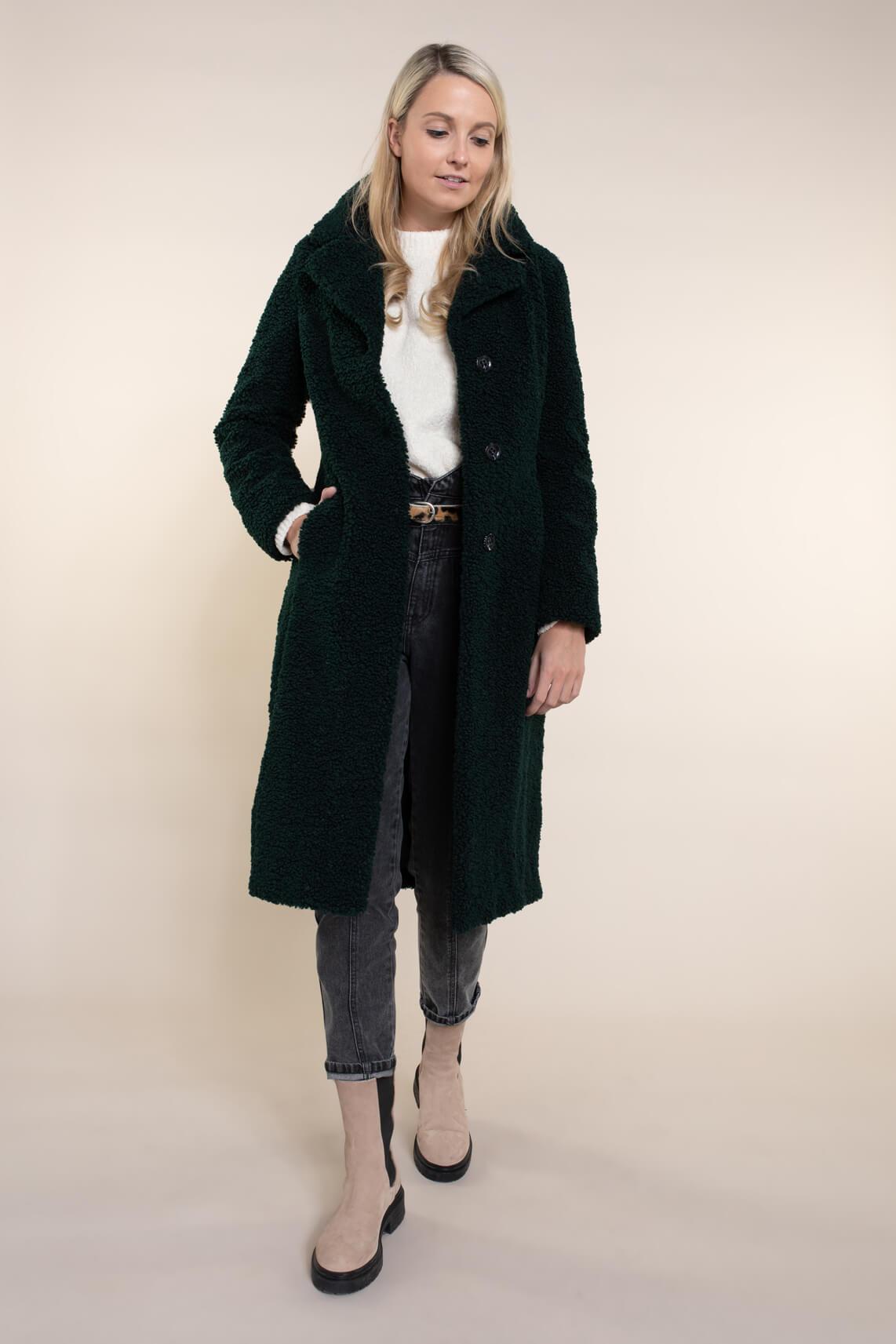 Beaumont Dames Kozak teddy coat groen