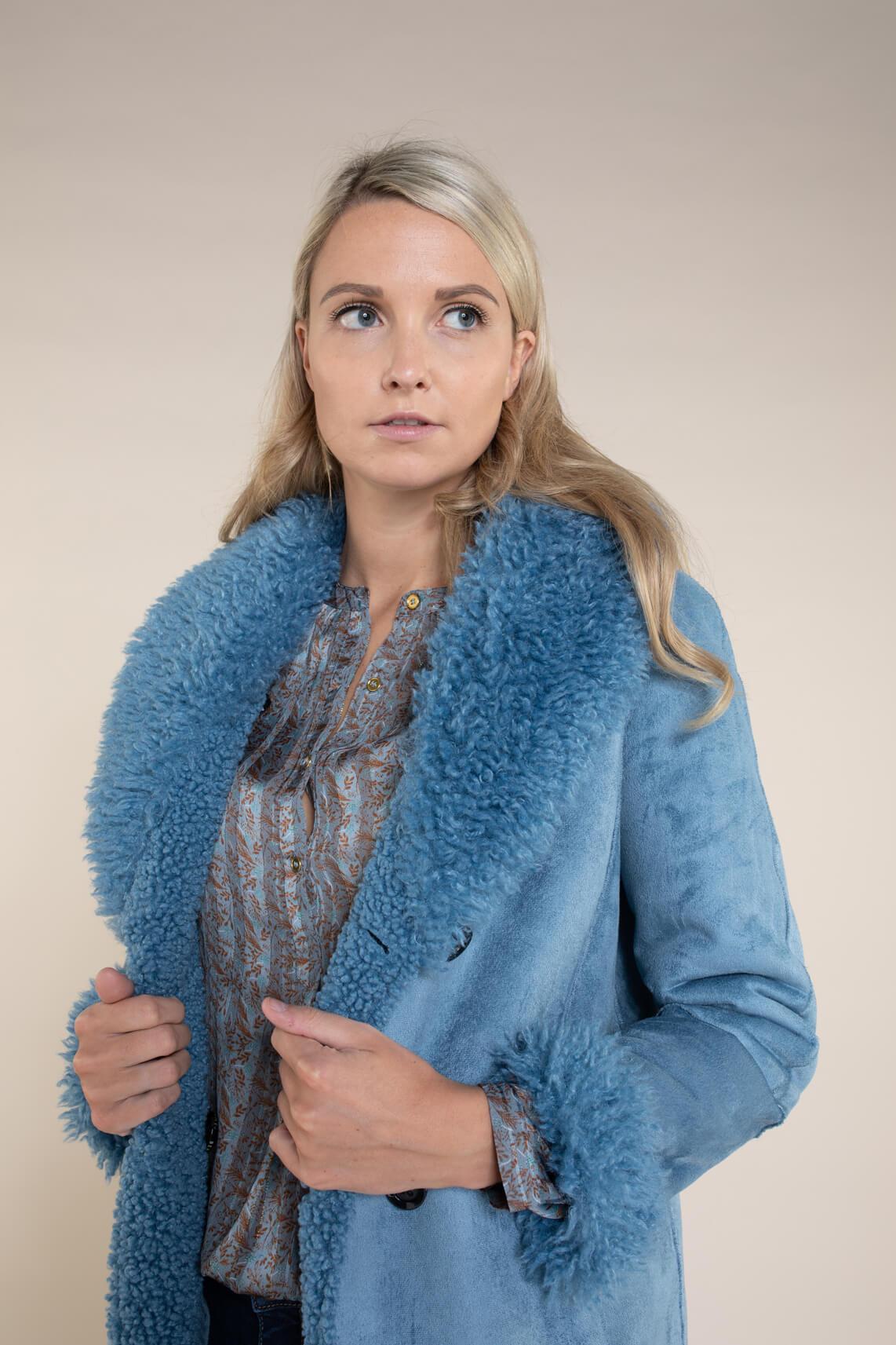 Beaumont Dames Reversible lammy jas Blauw