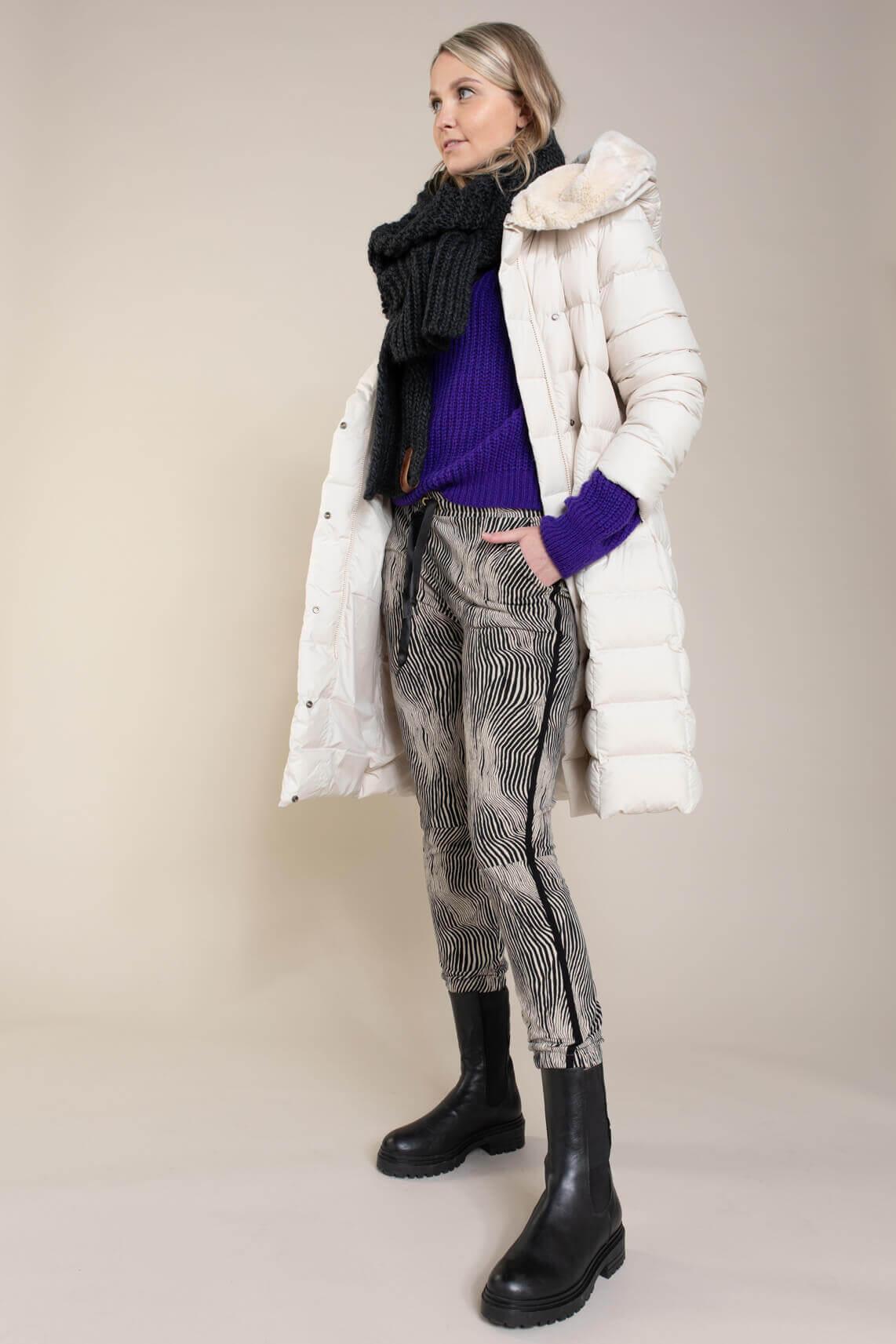 Beaumont Dames Lange donsjas wit