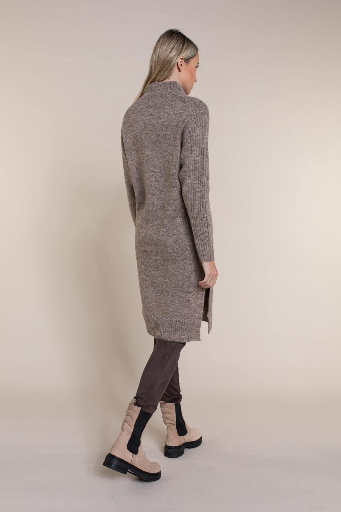 Moscow Dames Kirana jurk met wol Bruin