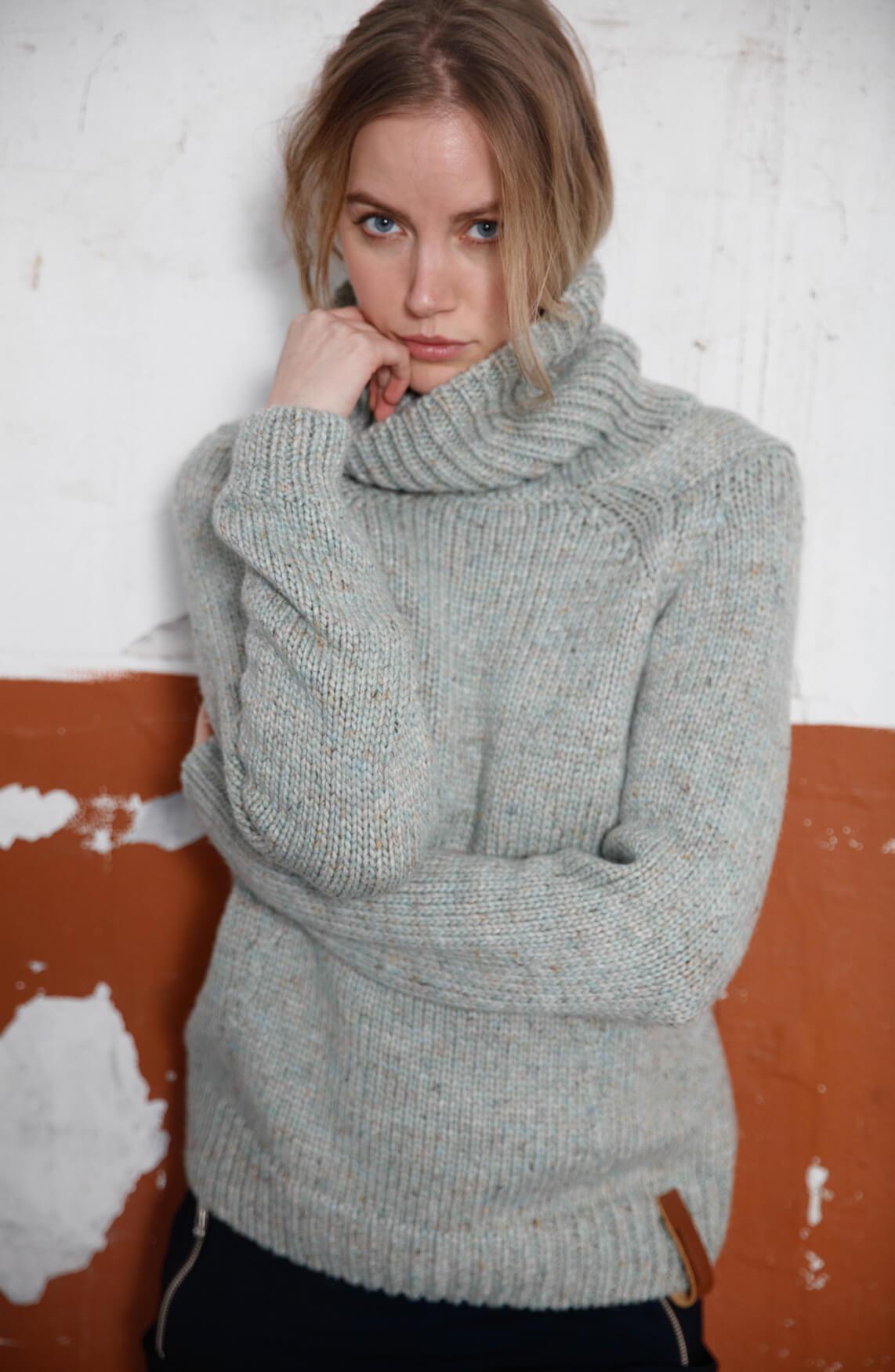 Moscow Dames Melina gebreide trui groen