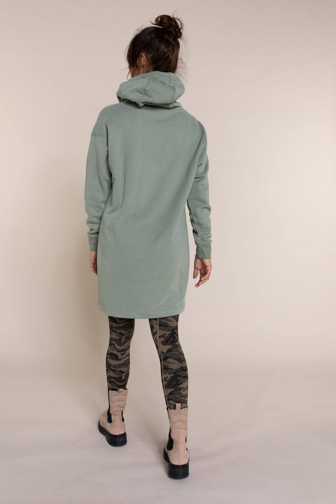 Moscow Dames Stasia lange pullover groen