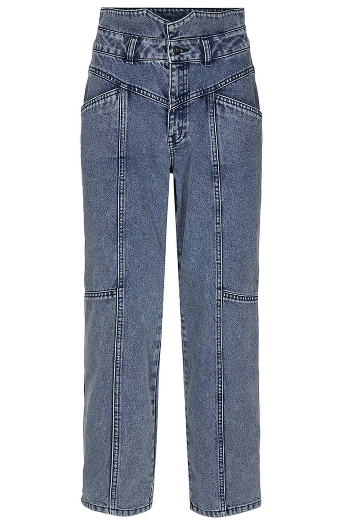 Co Couture Dames Zora high-waist jeans Blauw
