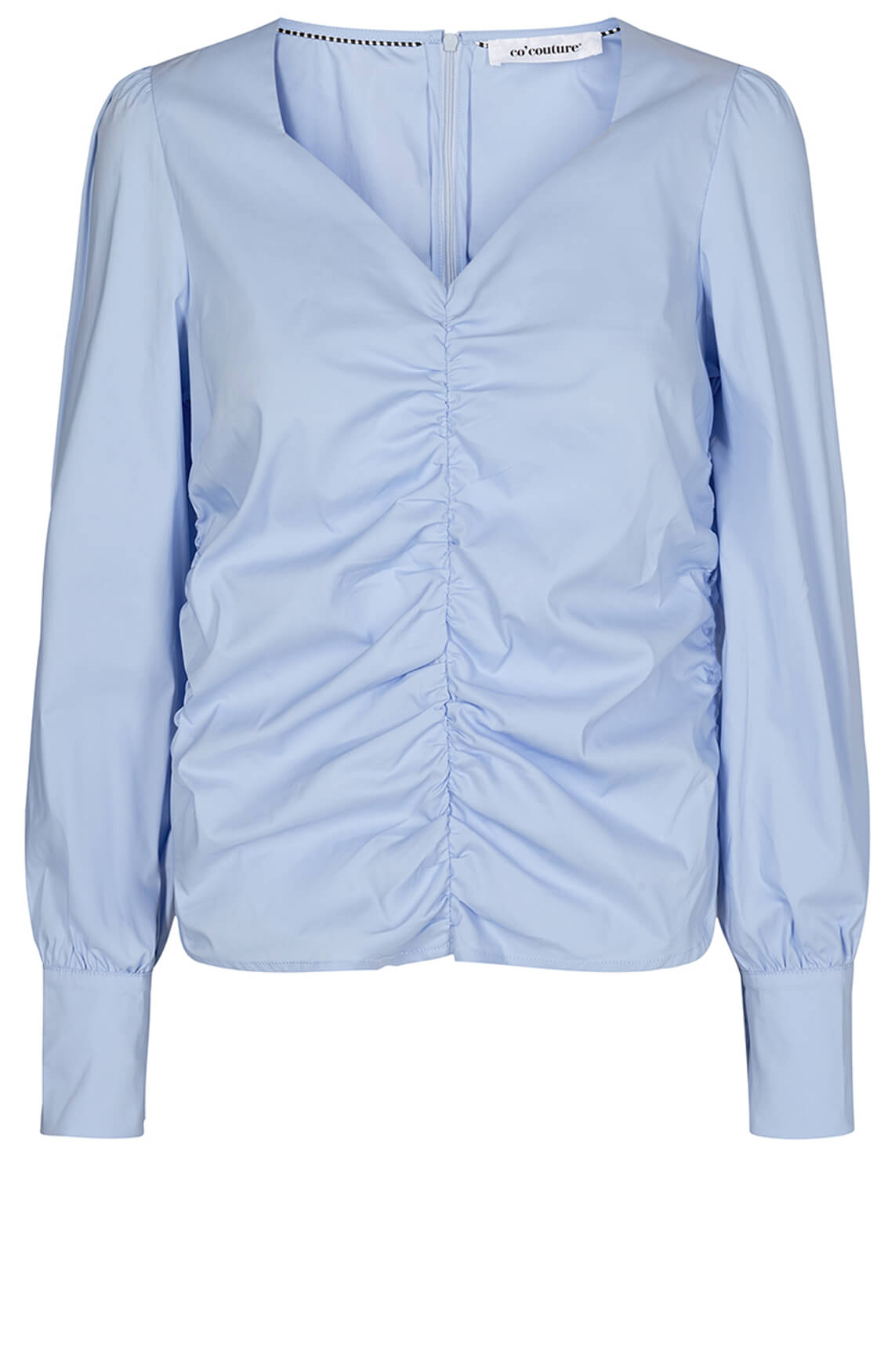 Co Couture Dames Sandy poplin blouse Blauw
