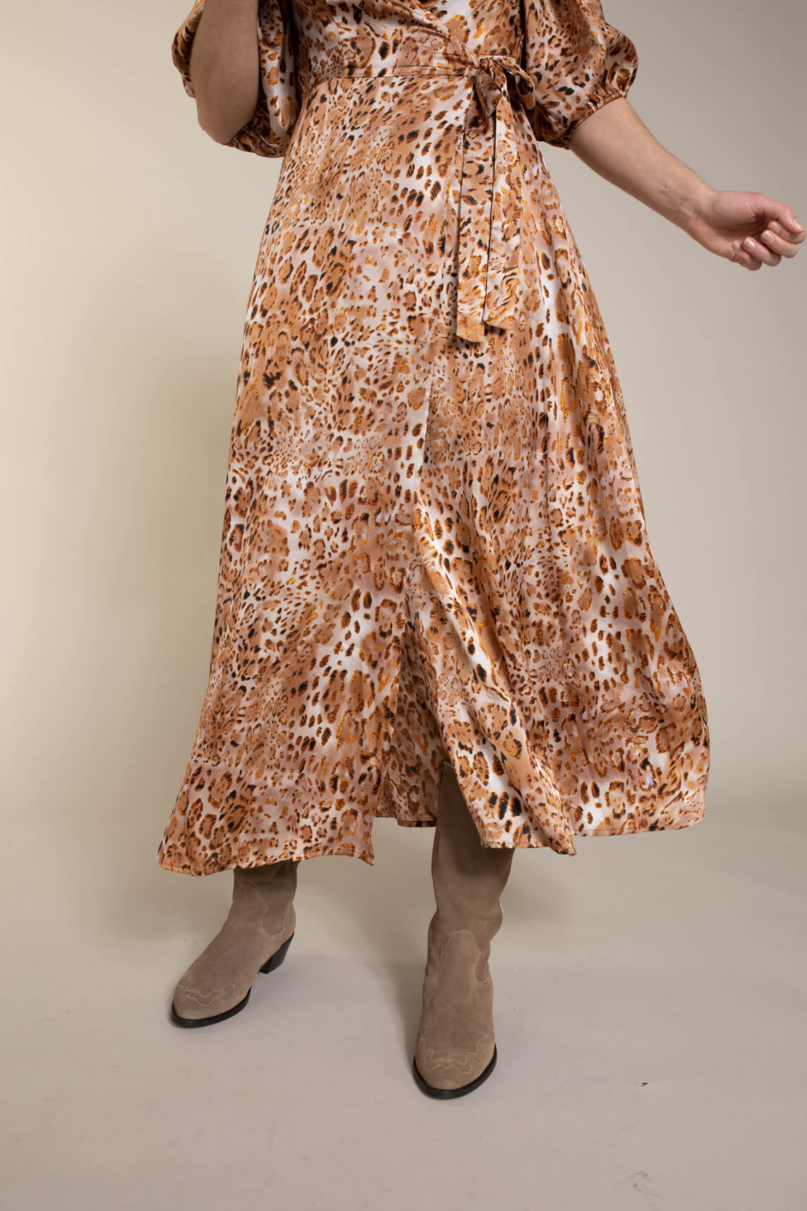 Co Couture Dames Daria overslagjurk Bruin