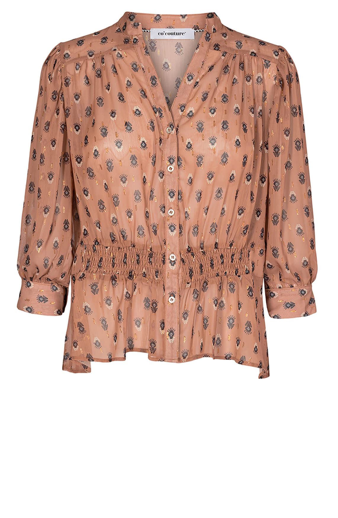 Co Couture Dames Moni blouse Bruin