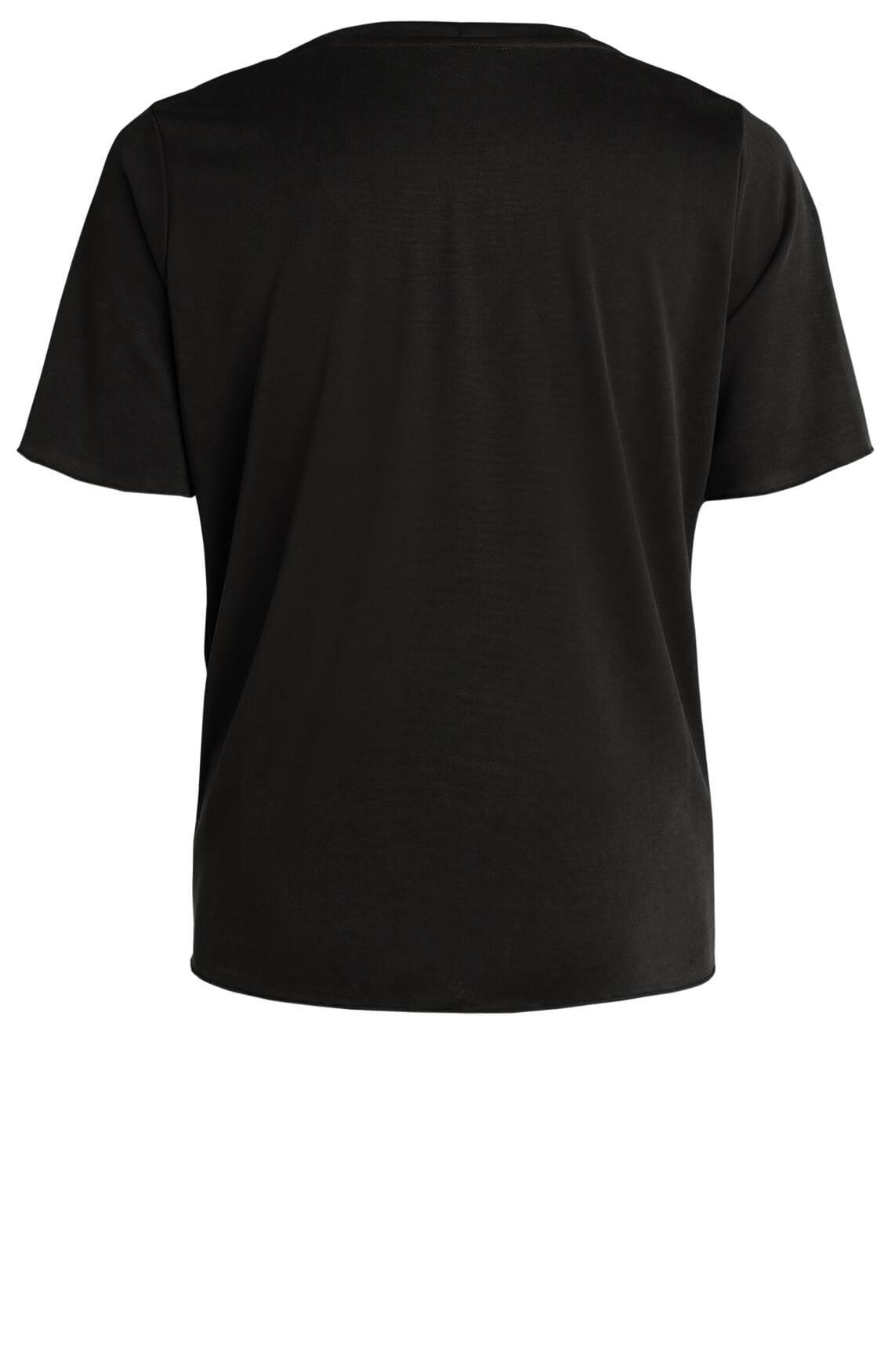 Anna Dames Shirt met modal zwart