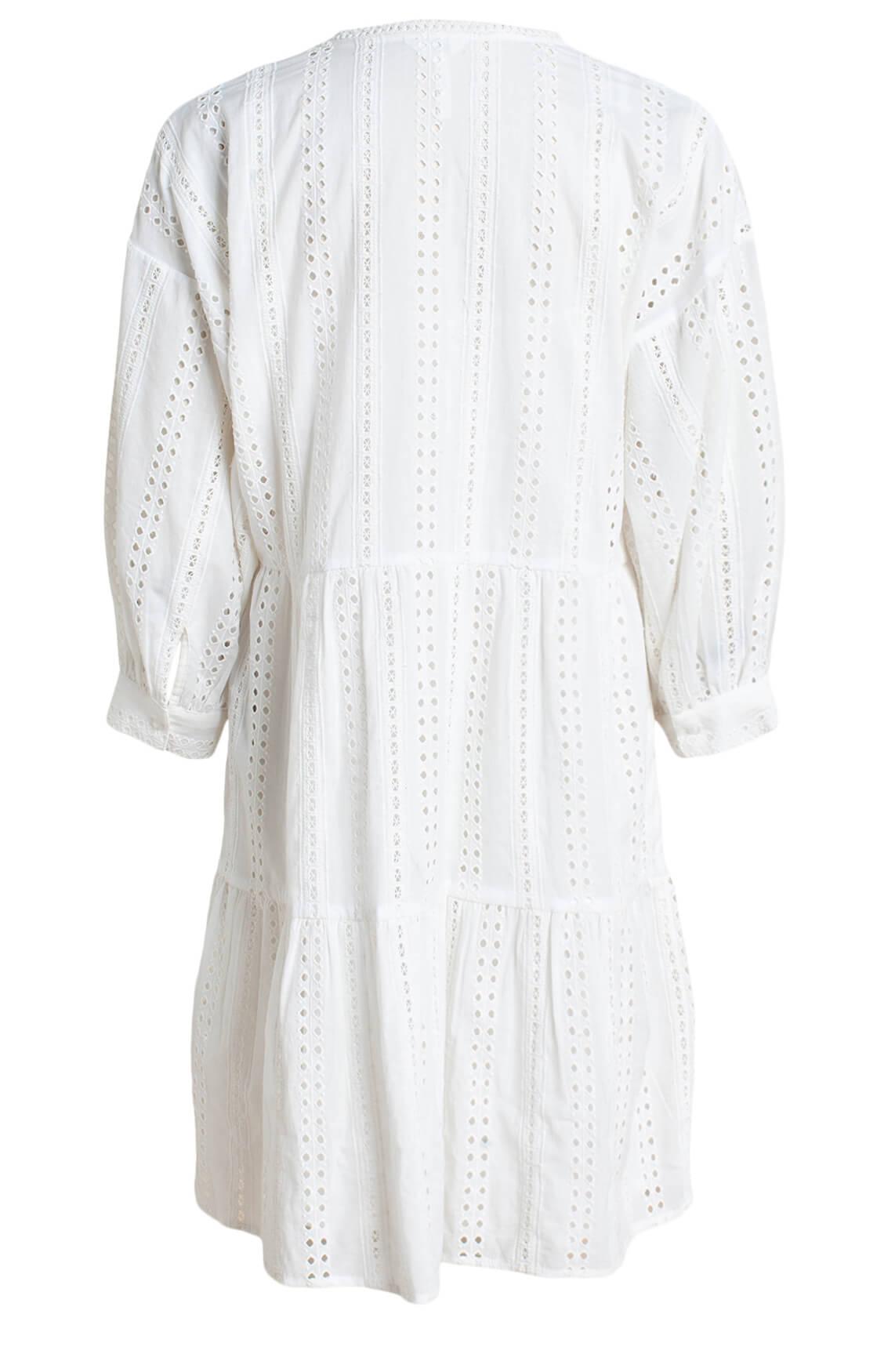 Object Dames Erin broderie jurk wit