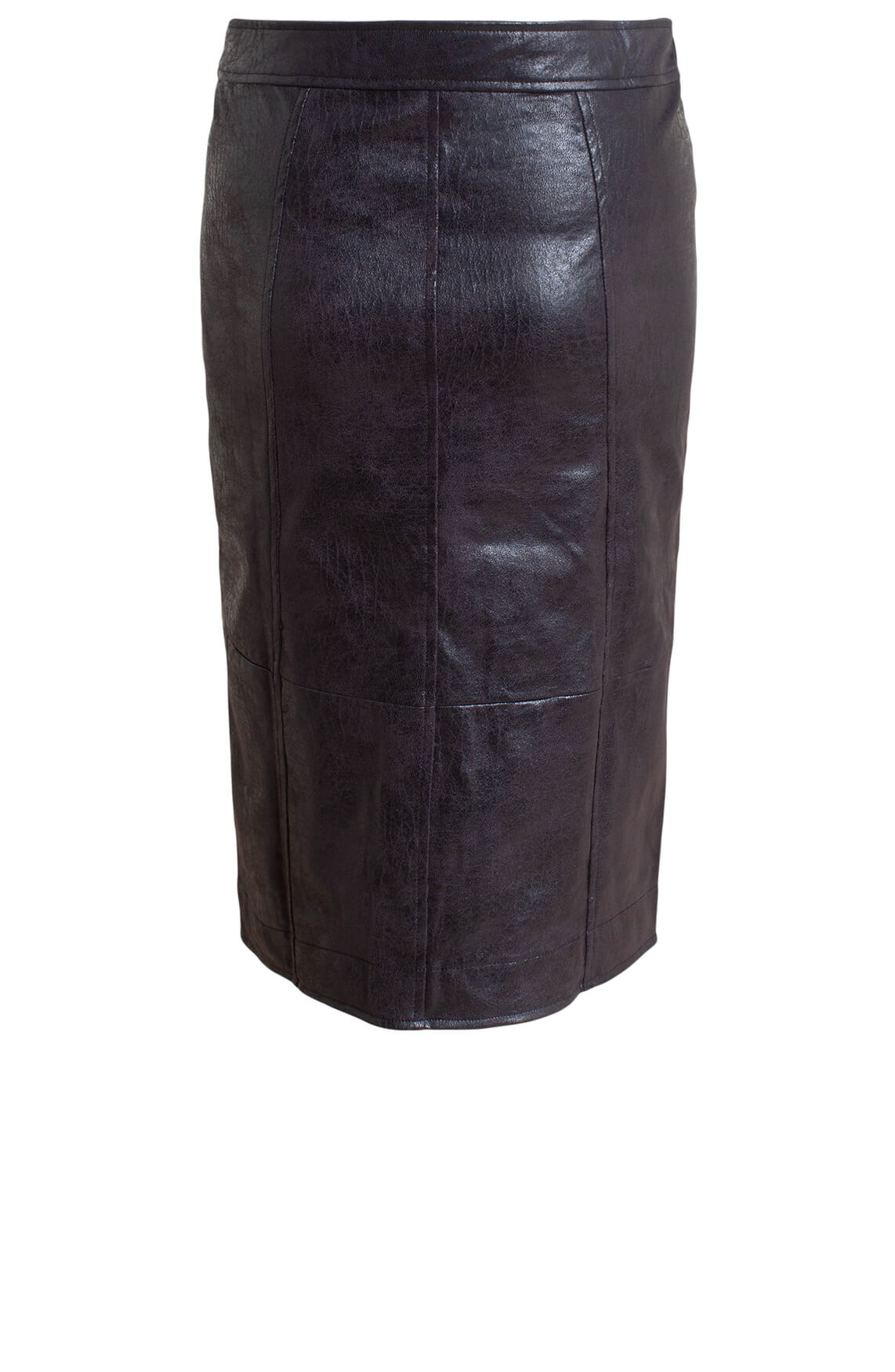 Anna Dames Fake leather rok zwart