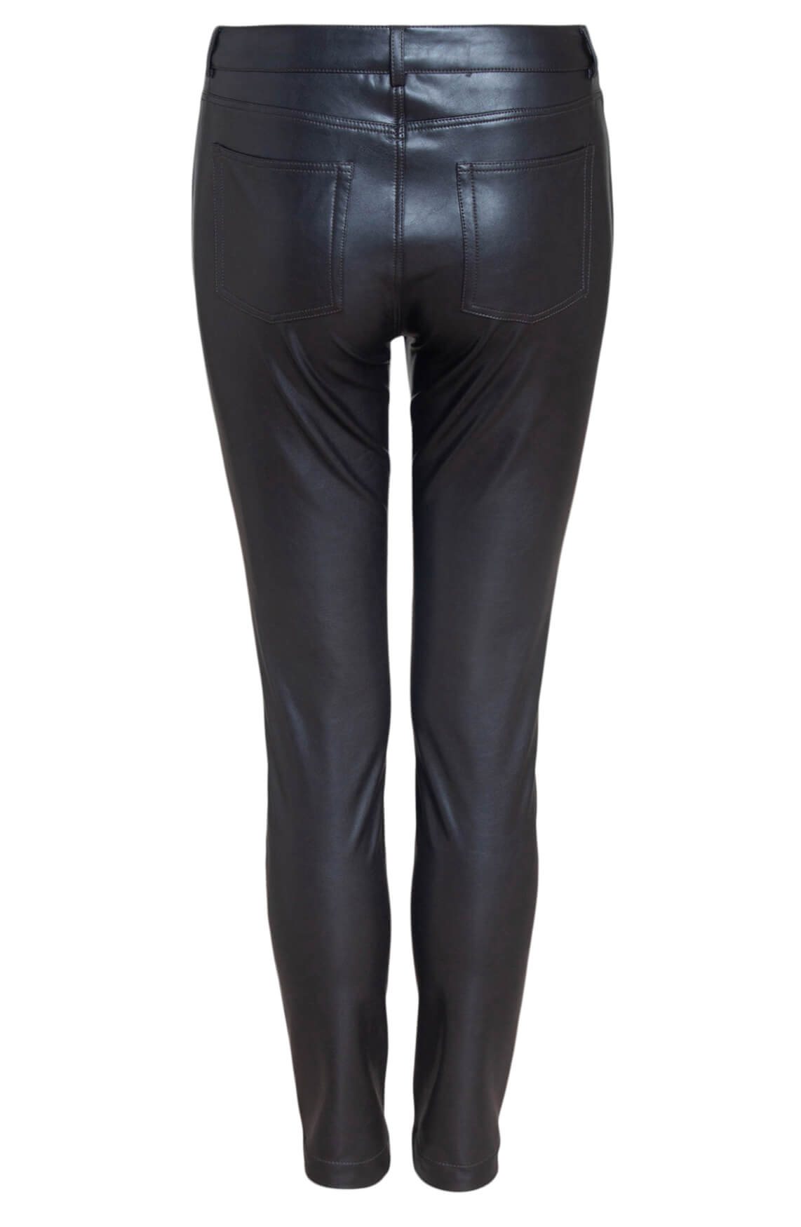 Anna Dames Fake leather broek Bruin