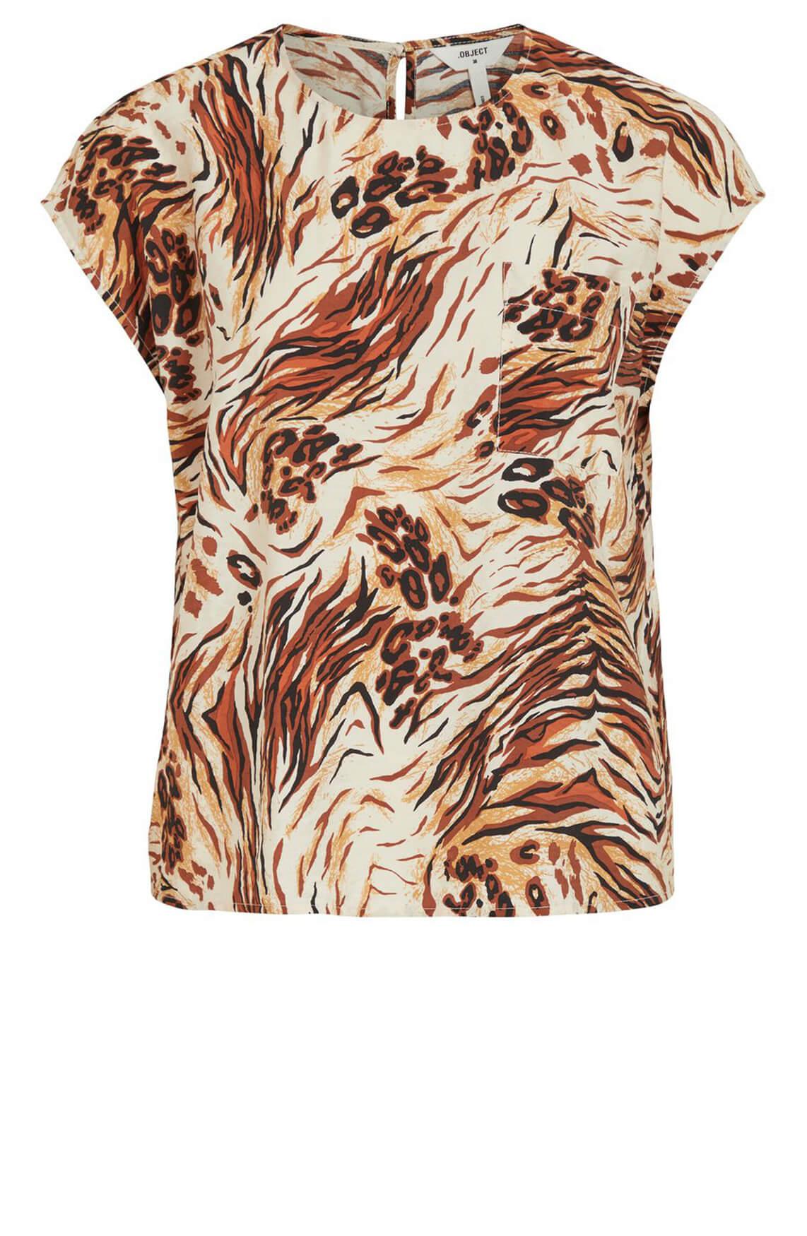 Object Dames Emerson shirt Bruin