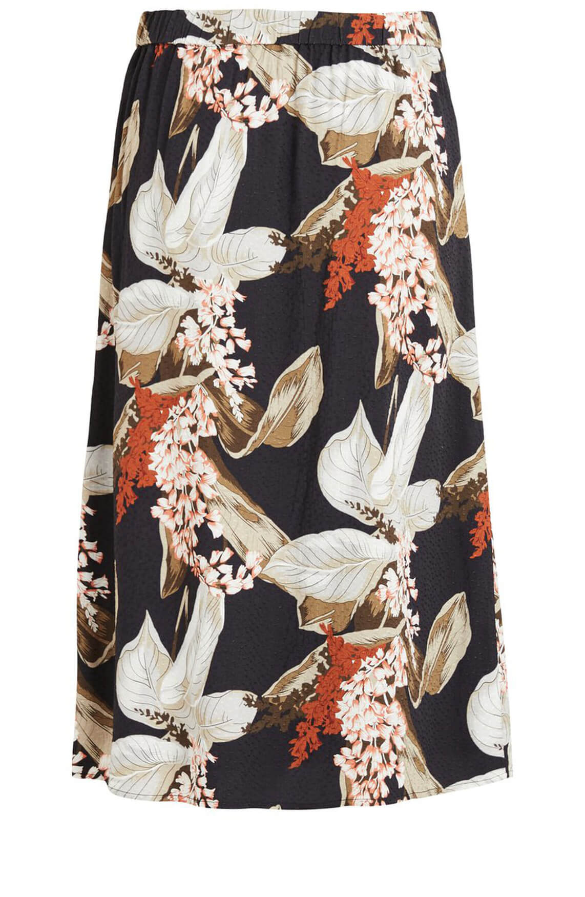 Object Dames Floral rok Bruin