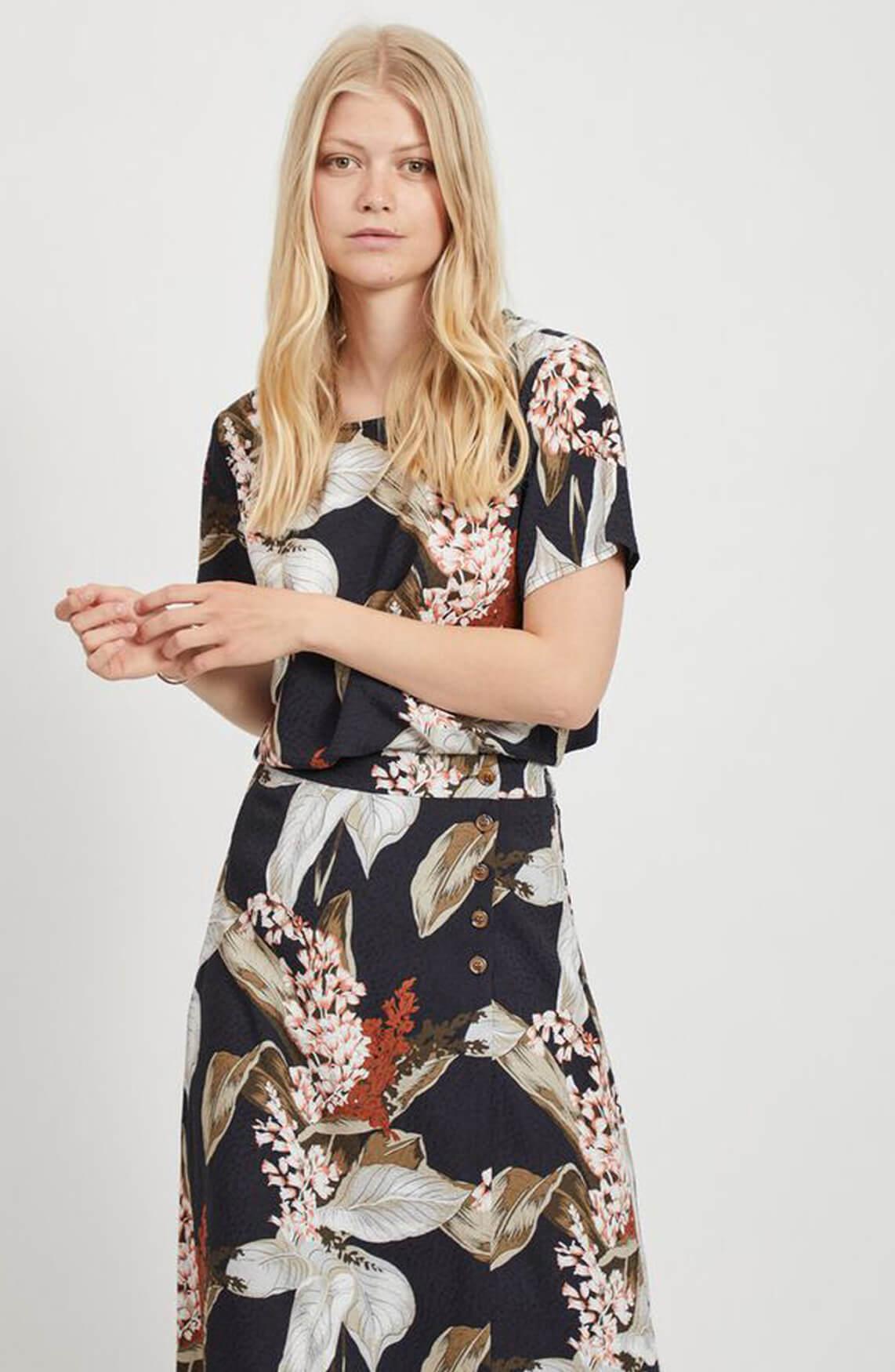 Object Dames Floral shirt Bruin