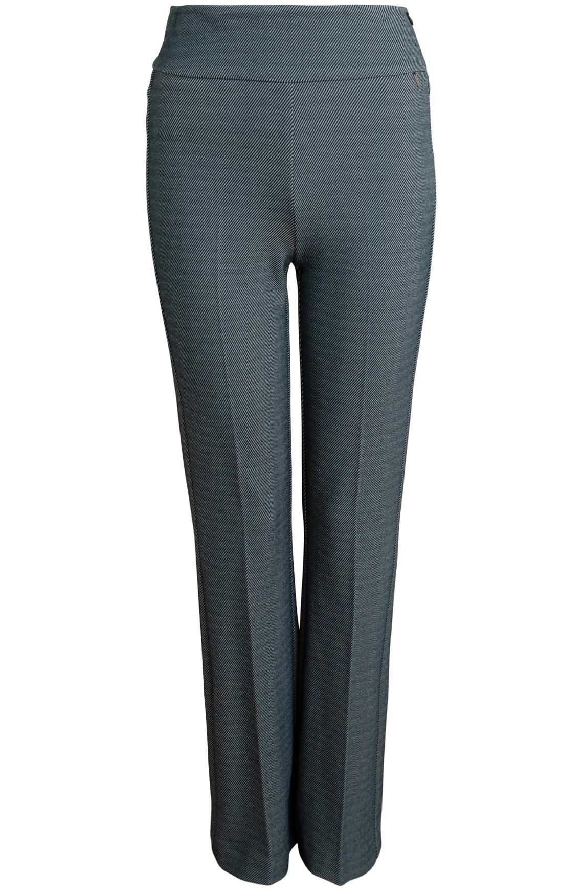 Anna Dames Stretch pantalon Blauw