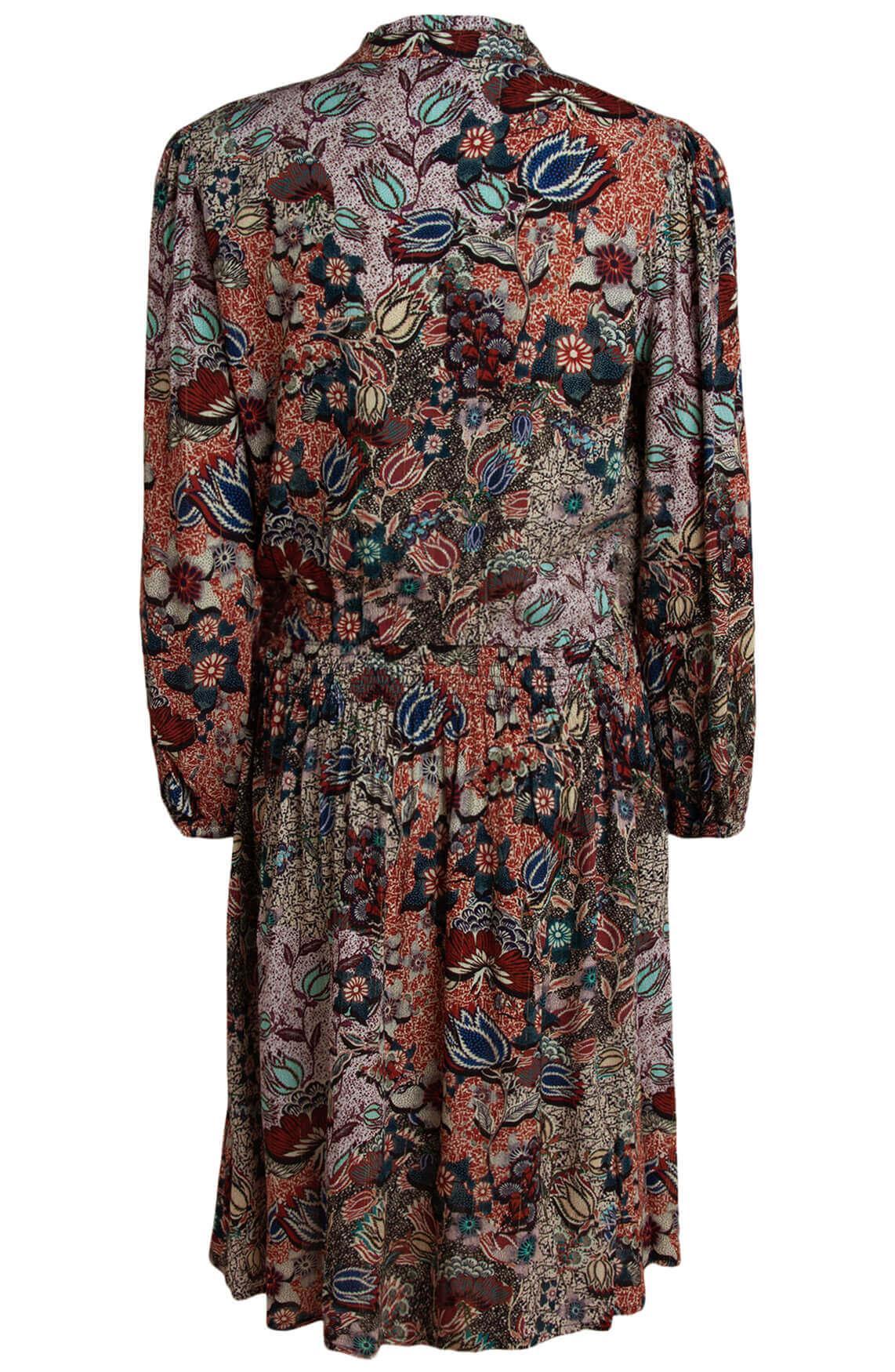 Anna Dames Floral jurk Blauw