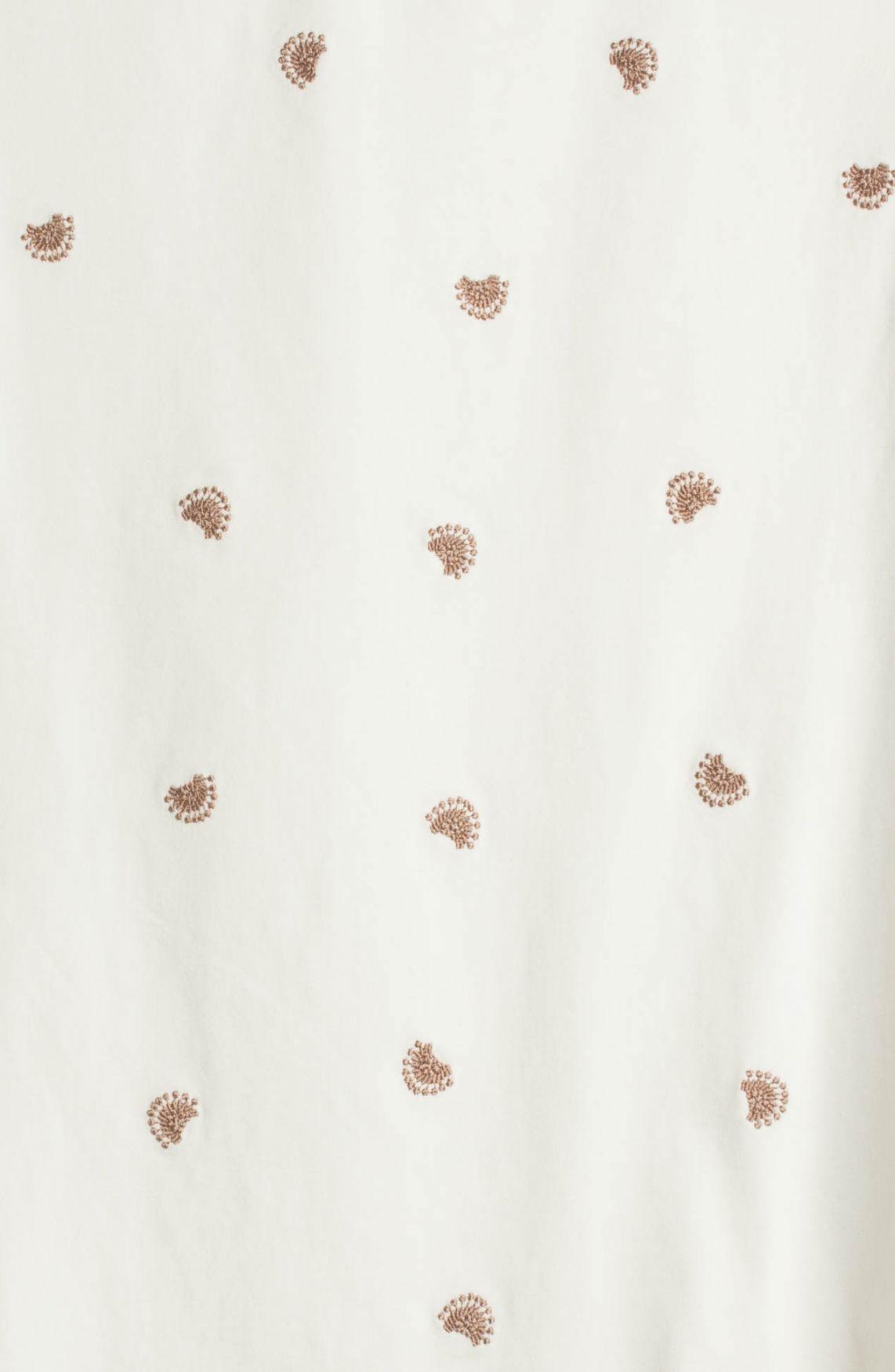 Anna Dames Shirt met borduursel Wit
