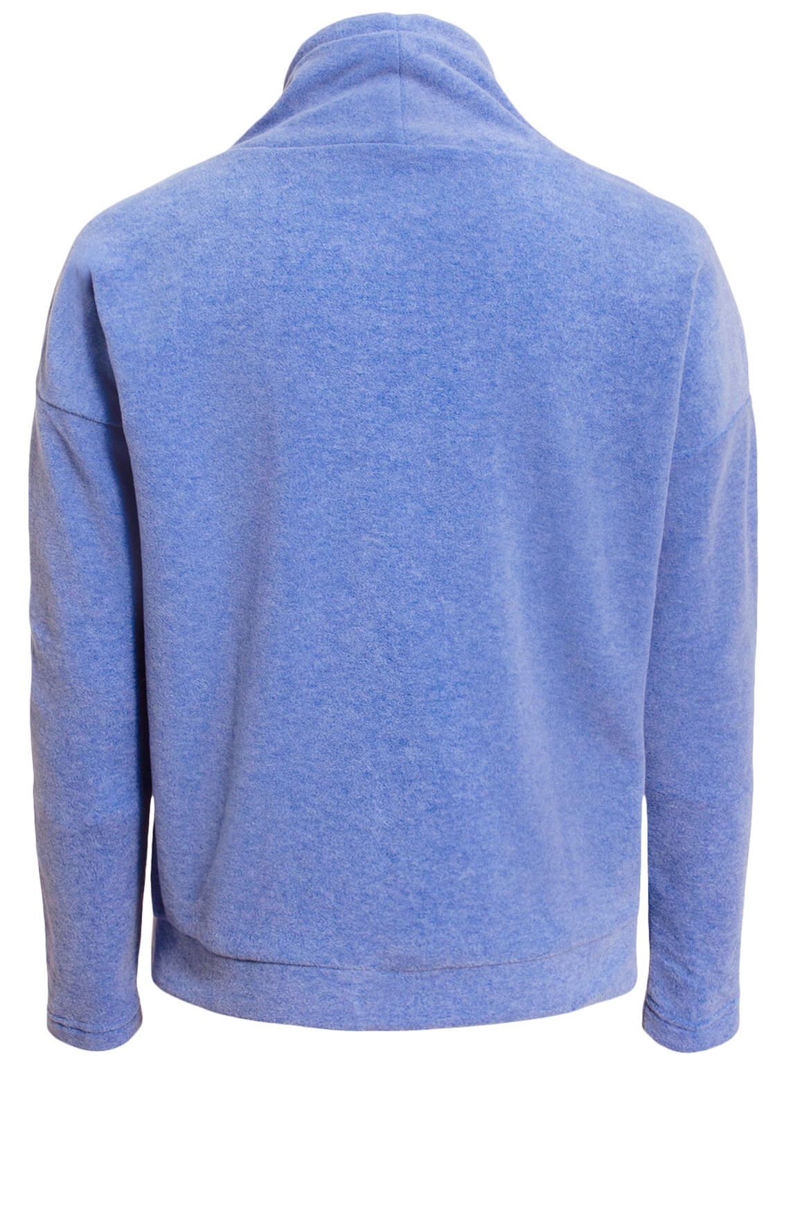 Anna Blue Dames Fleece sweater Blauw