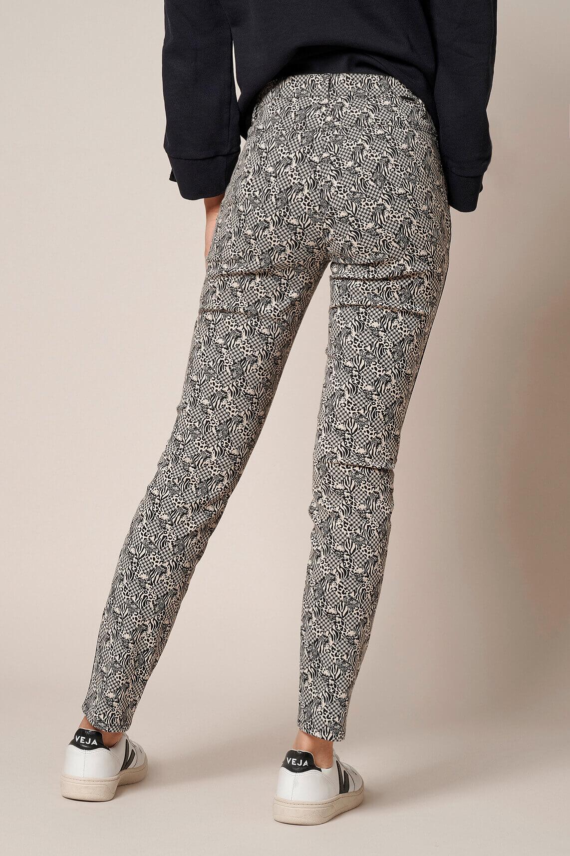 Rosner Dames L30 Antonia broek met dessin zwart