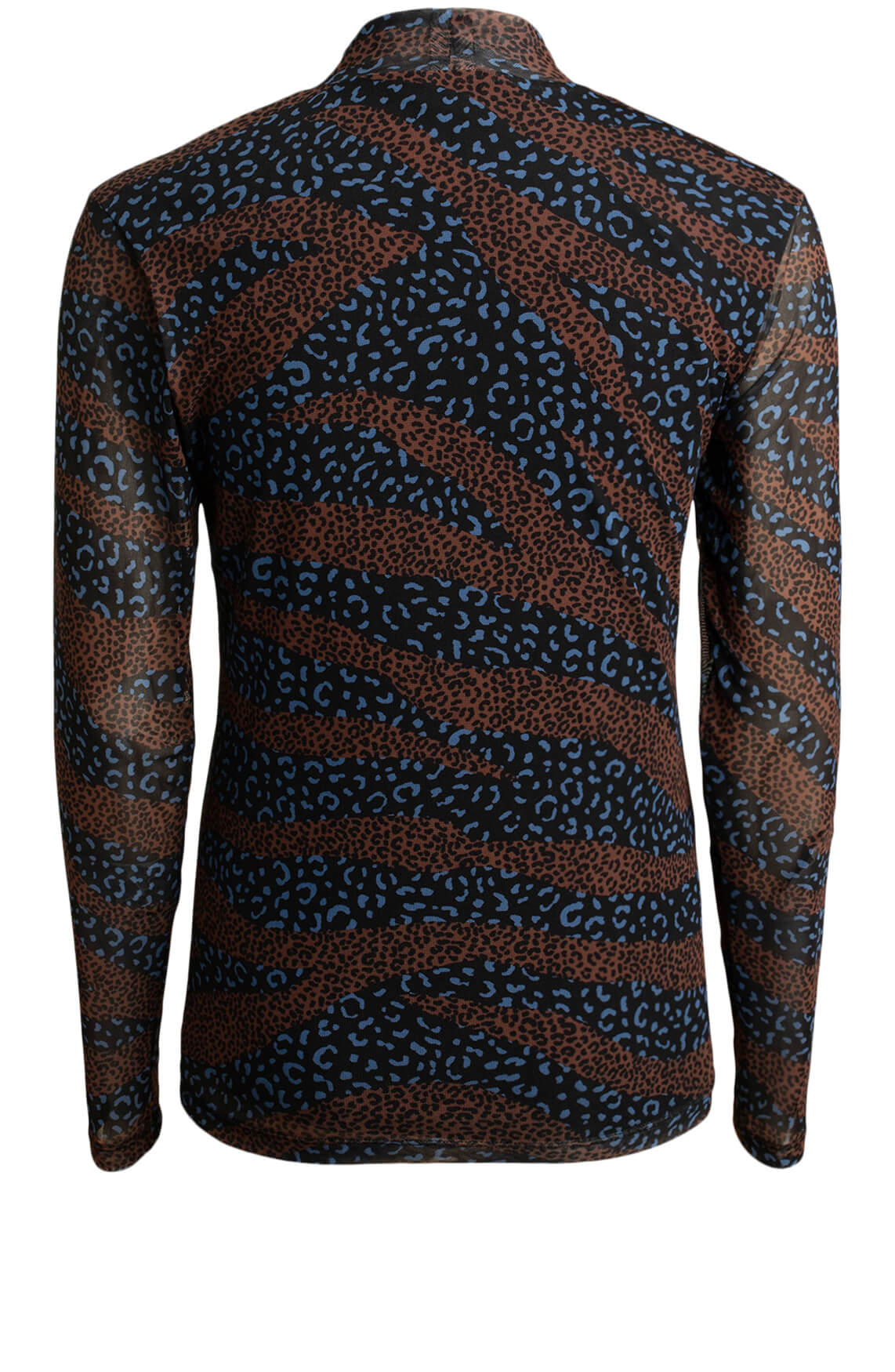 Anna Dames Mesh shirt Bruin