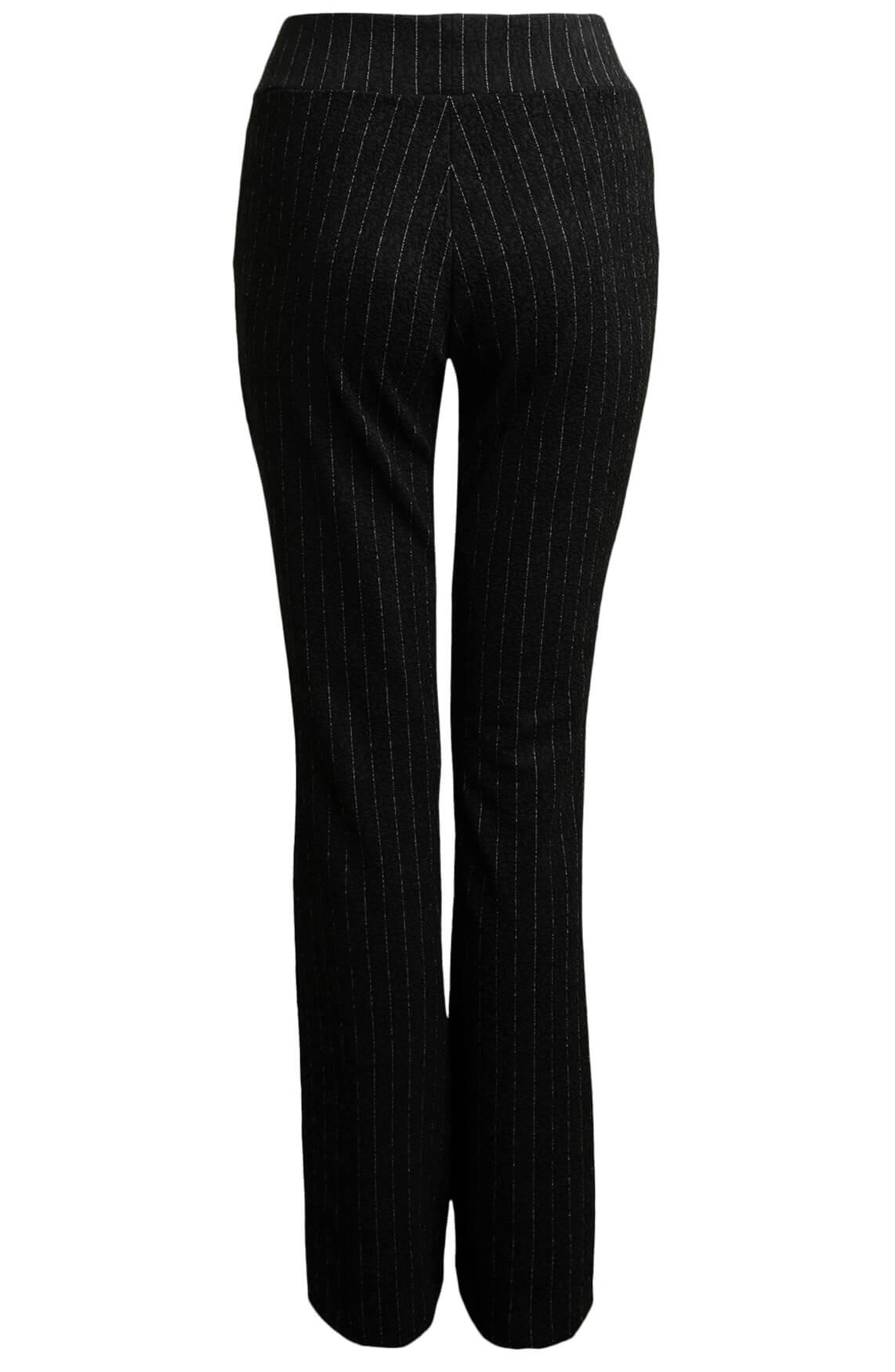 Anna Dames Krijtstreep pantalon zwart