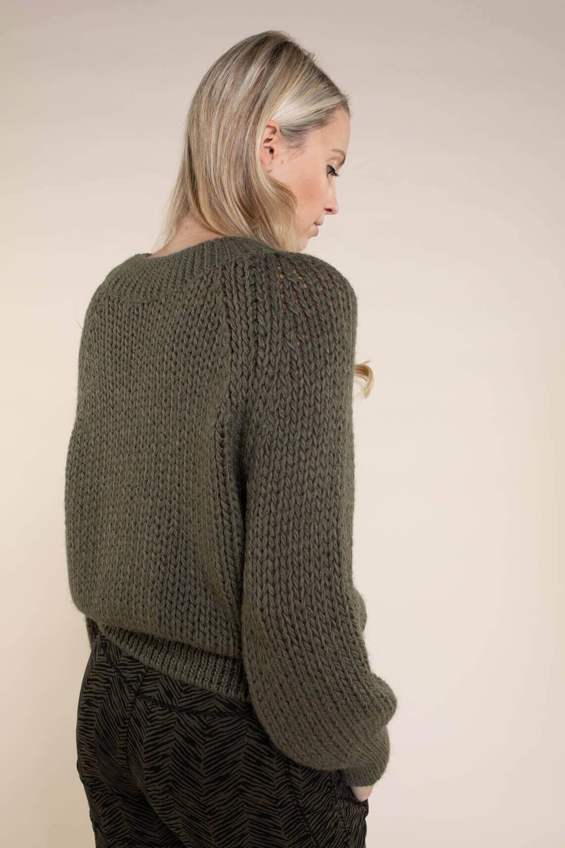 Moscow Dames Katya gebreide pullover groen