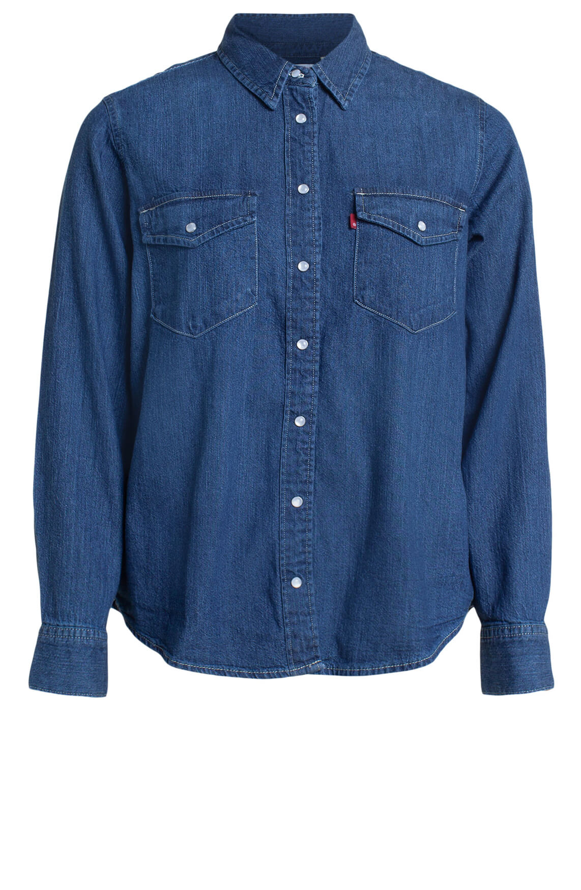 Levi s Dames Denim blouse Blauw