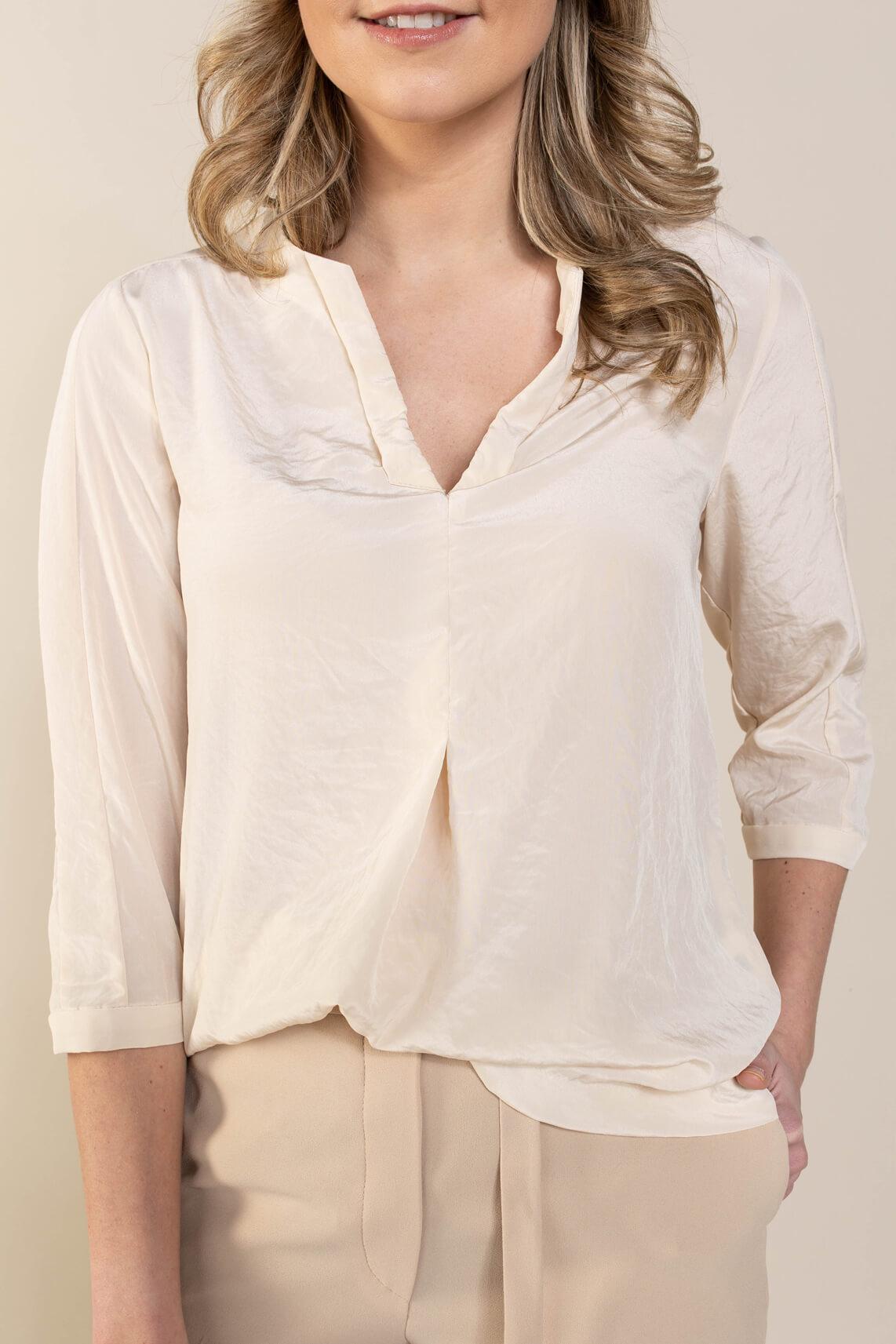 Riani Dames Glanzende blouse Ecru