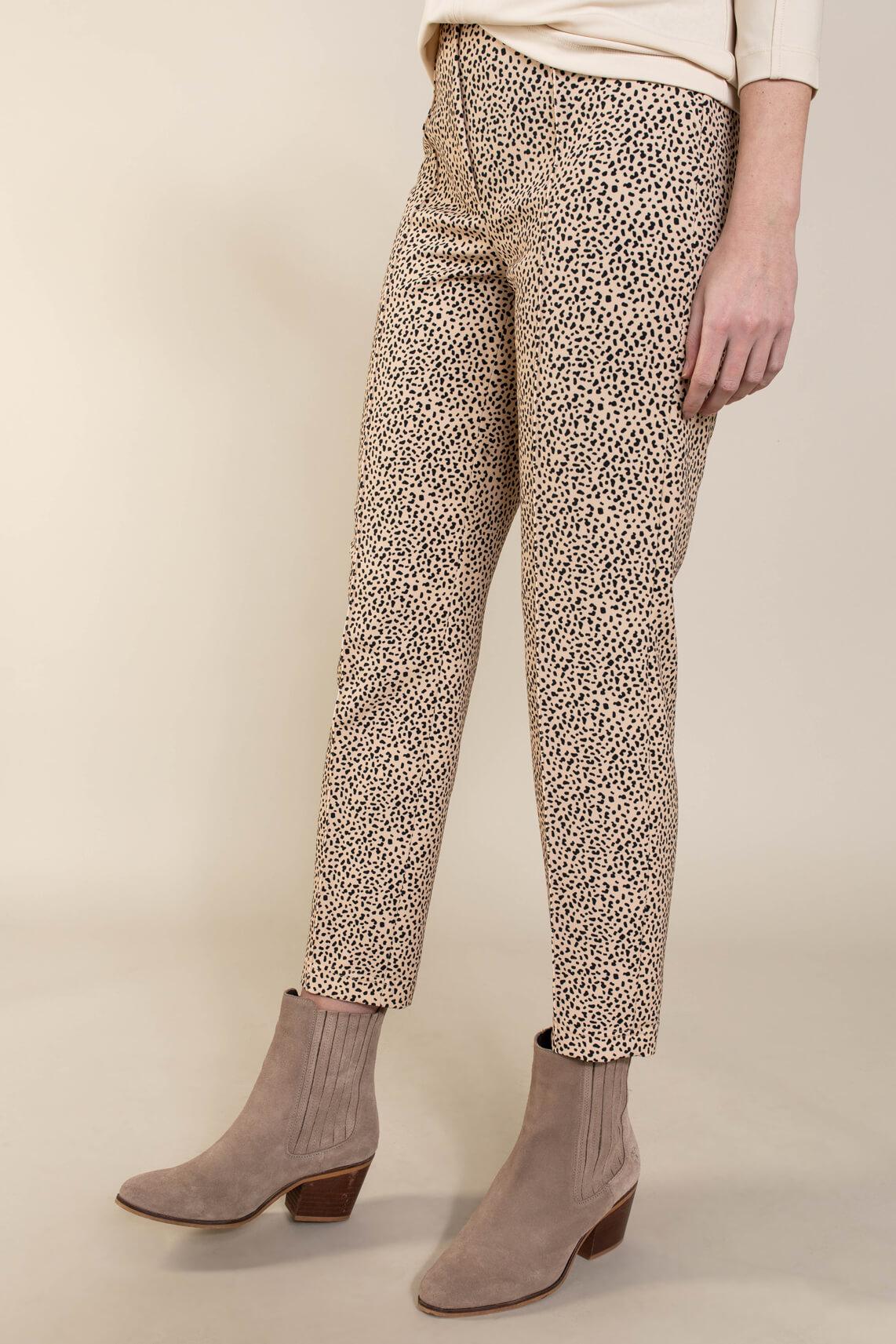 Riani Dames Panterprint pantalon Zwart