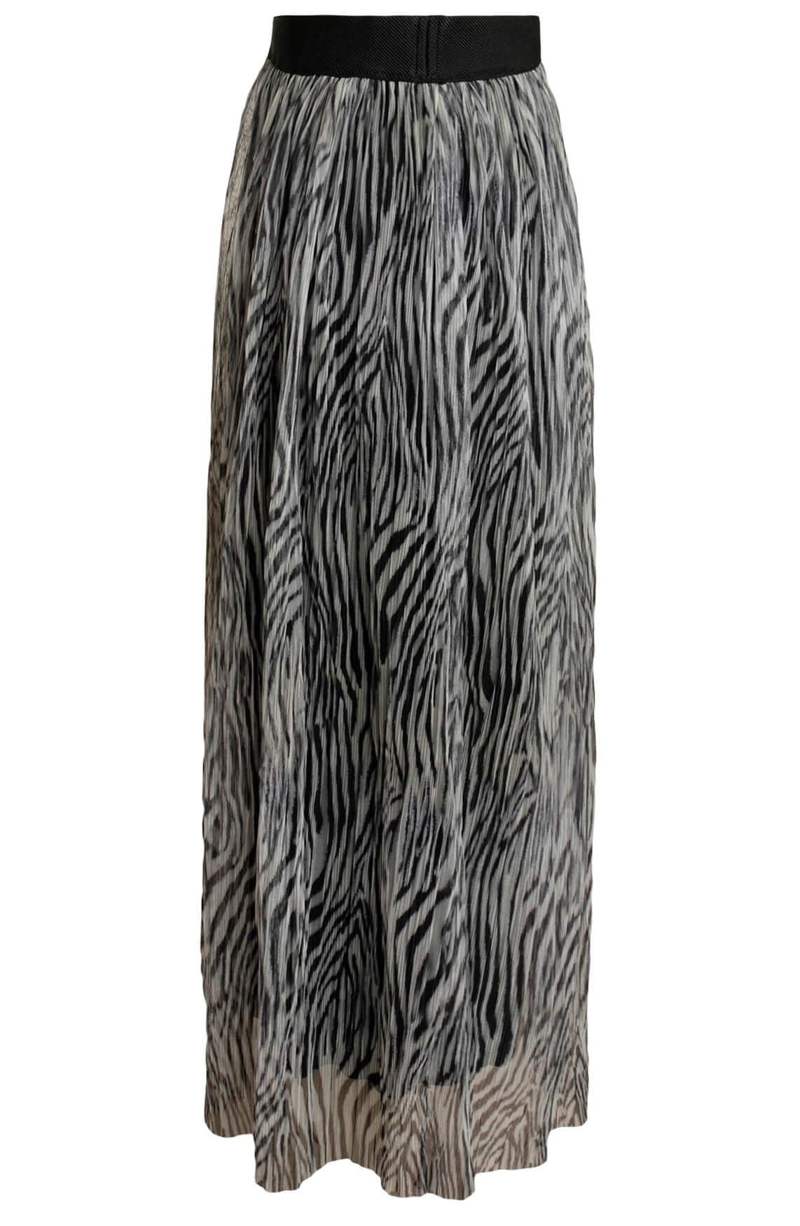 Anna Dames Zebra mesh rok zwart