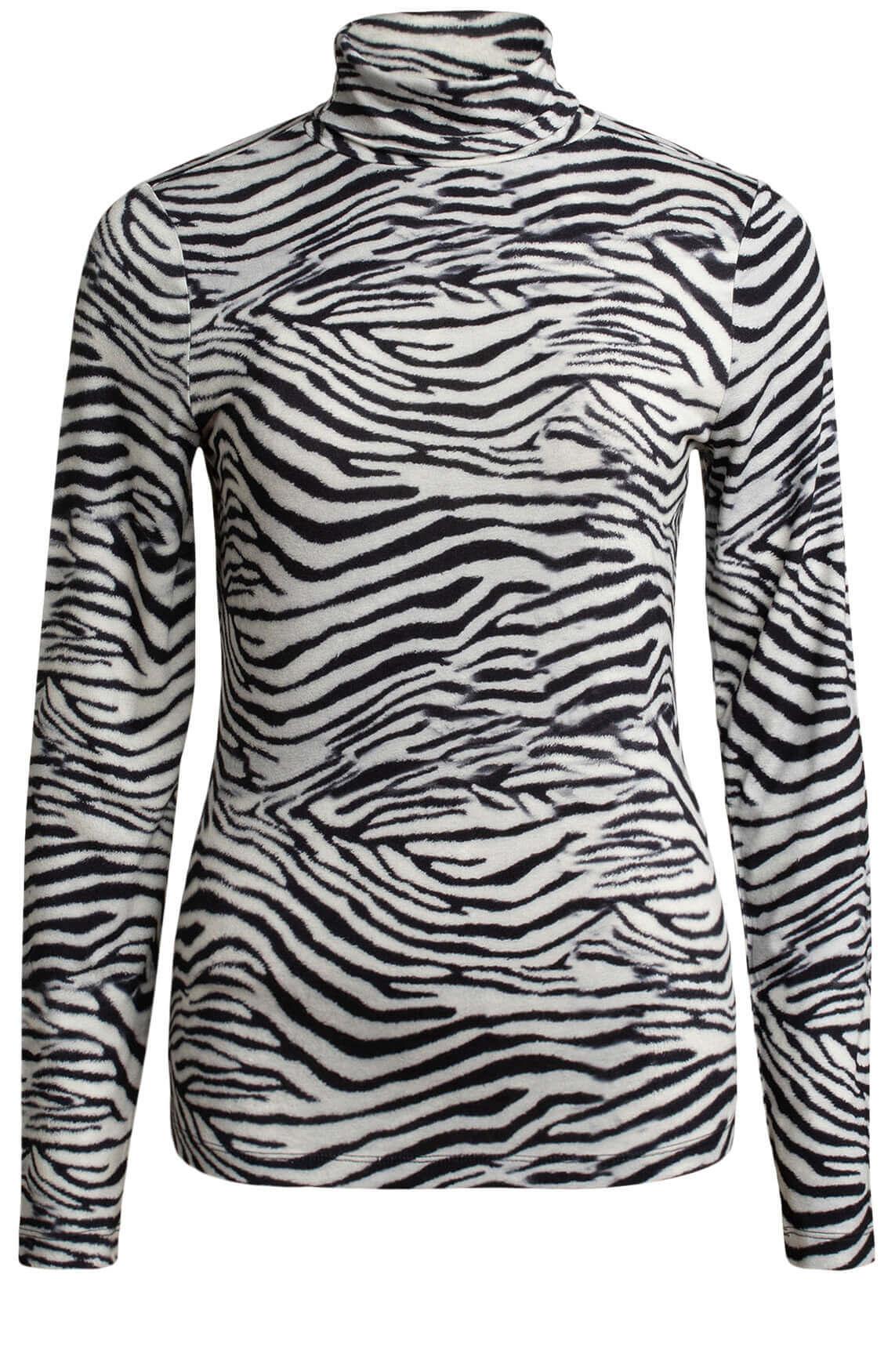 Anna Dames Zebra shirt zwart